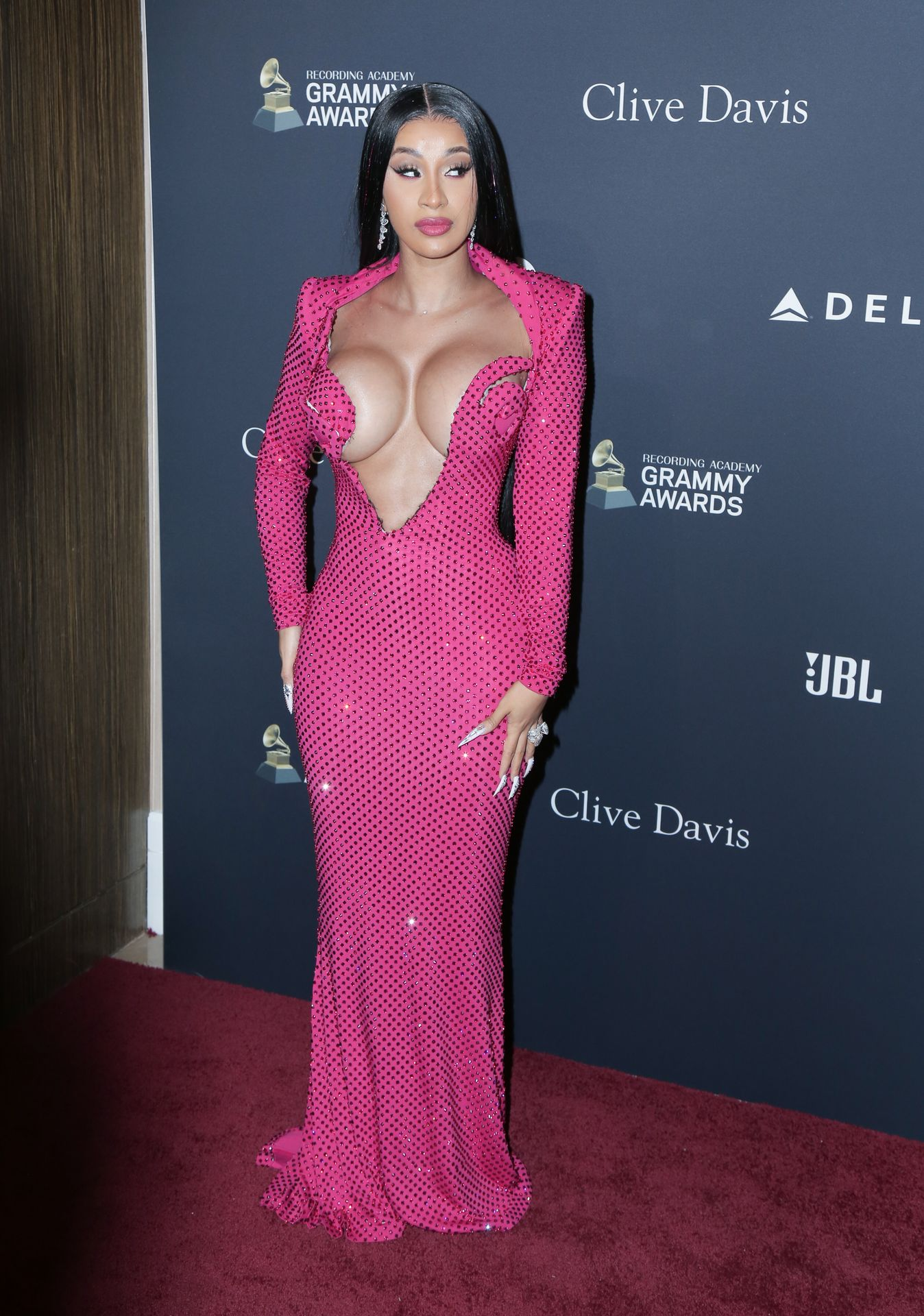 Offset Covers Cardi B's Boobs To Avoid Wardrobe Malfunction At Clive Davis Pre Grammy Party 0100