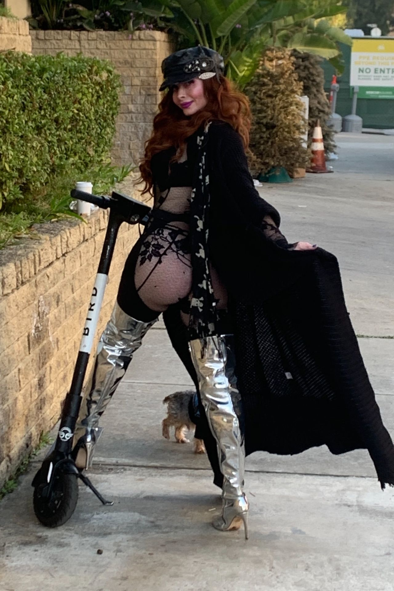 Phoebe Price Shows Her Butt In Los Angeles 0012