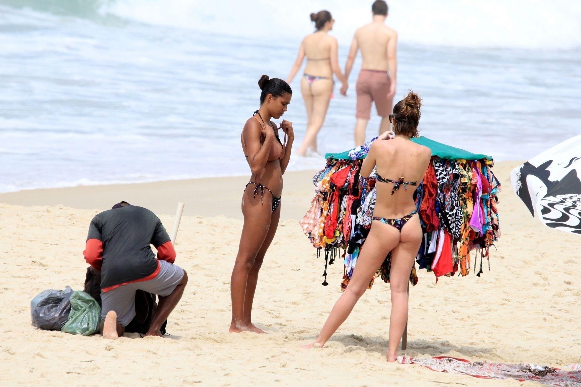Tina Kunakey Nearly Nip Slip While Frolicking On The Beach In Rio 0062