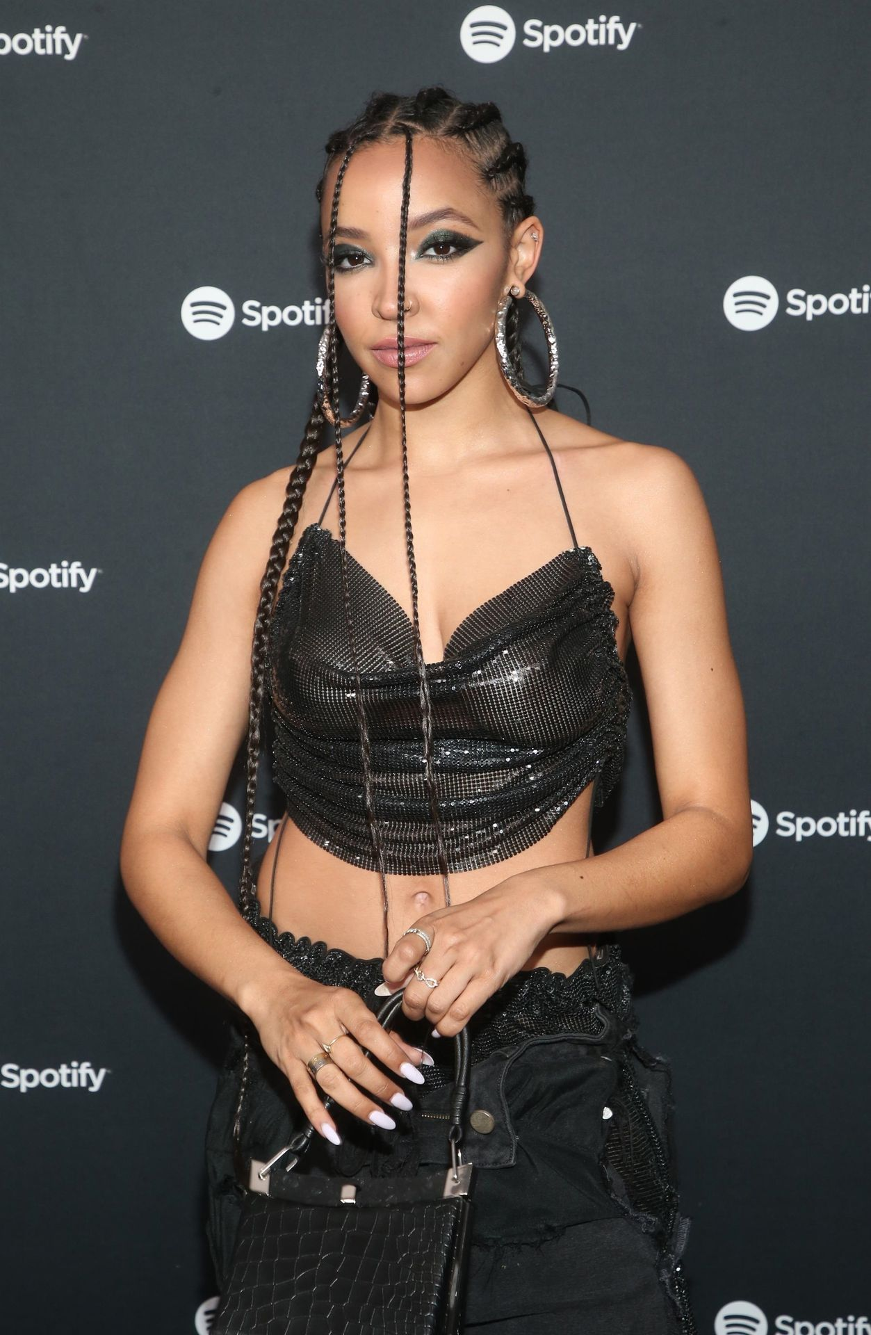 Tinashe Flaunts Her Tits At The Spotify Best New Artist Party 0019