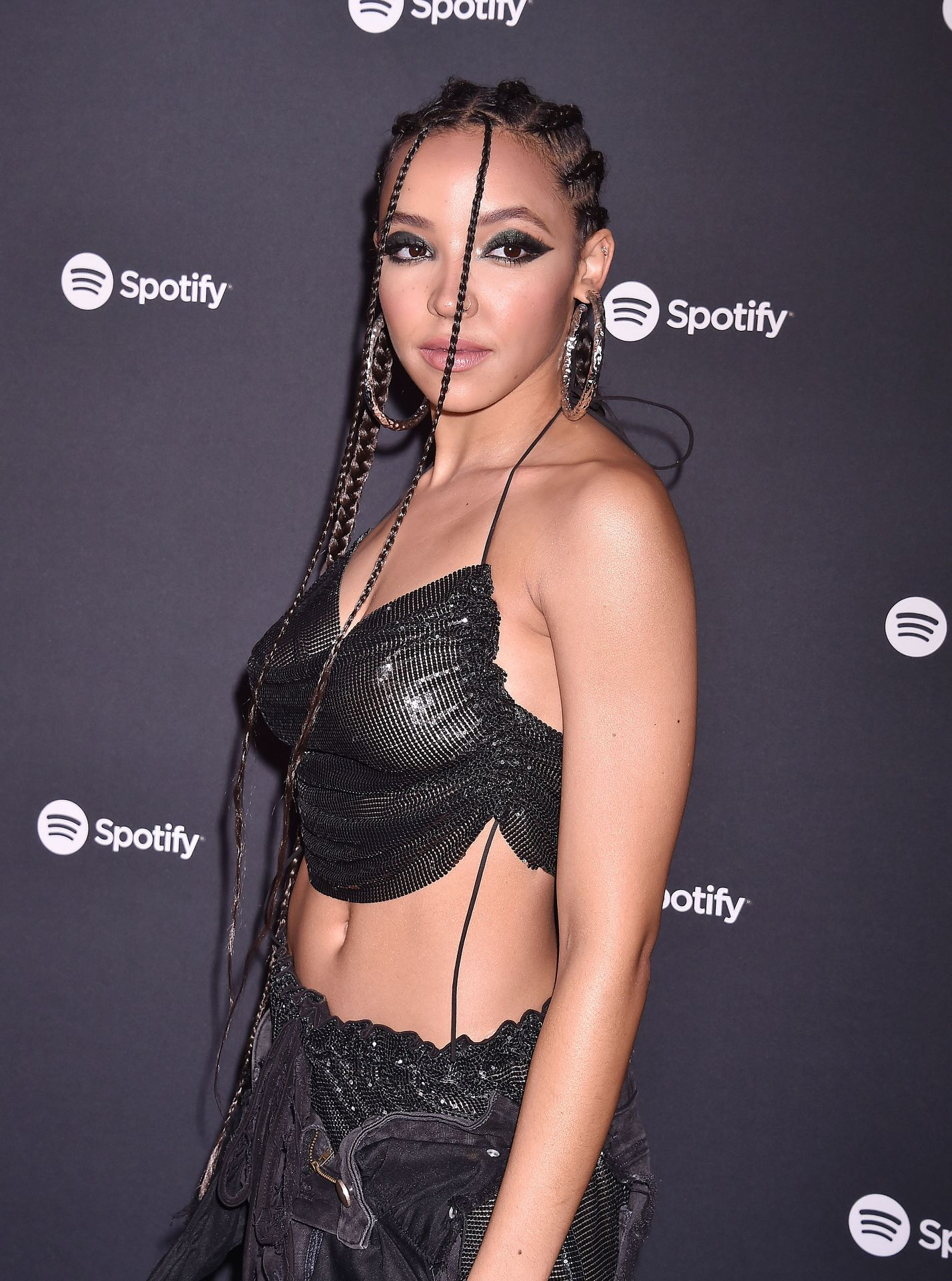 Tinashe Flaunts Her Tits At The Spotify Best New Artist Party 0023