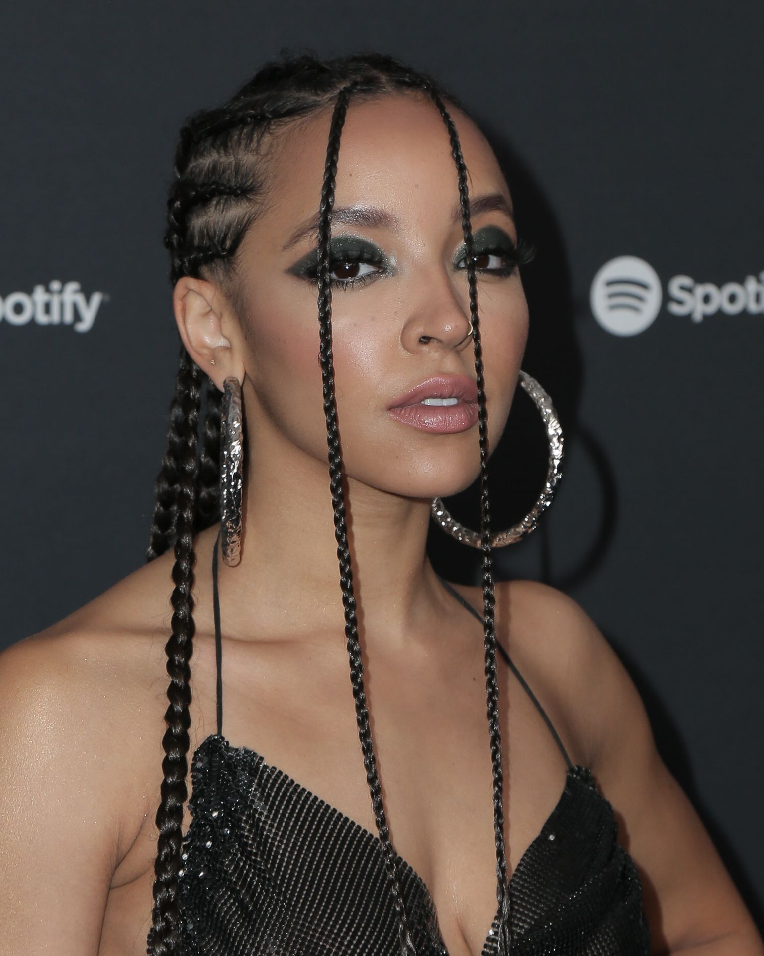 Tinashe Flaunts Her Tits At The Spotify Best New Artist Party 0025