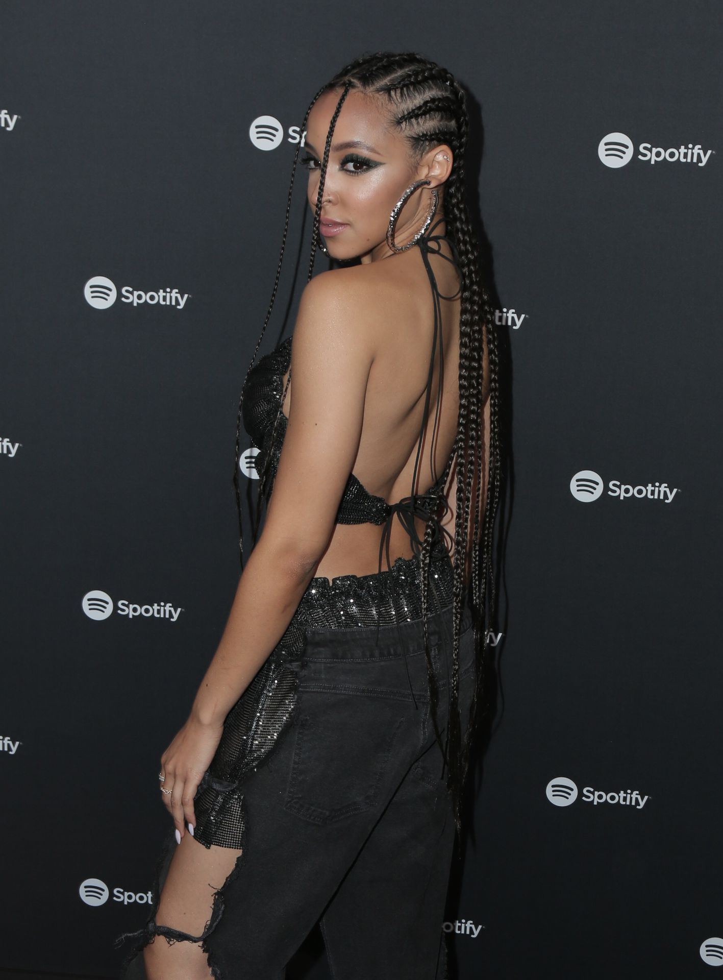 Tinashe Flaunts Her Tits At The Spotify Best New Artist Party 0029