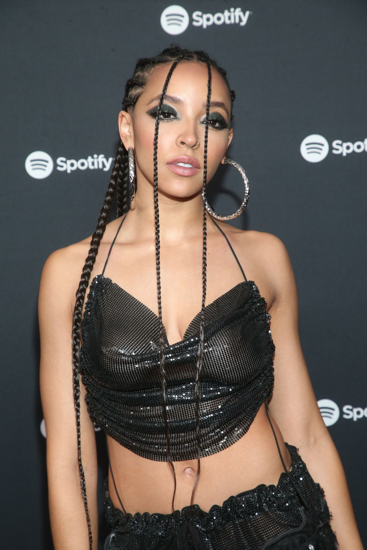 Tinashe Flaunts Her Tits At The Spotify Best New Artist Party 0041