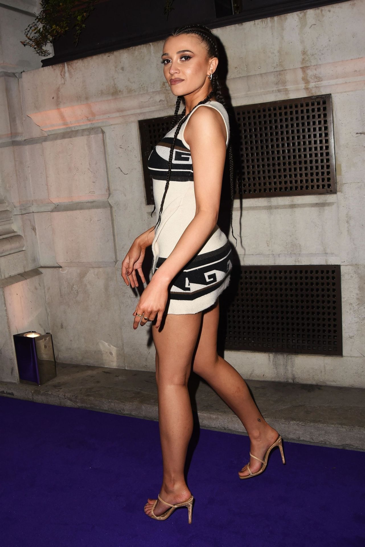 Daisy Maskell Displays Her Legs And Underwear At The Brits Universal After Party 0004