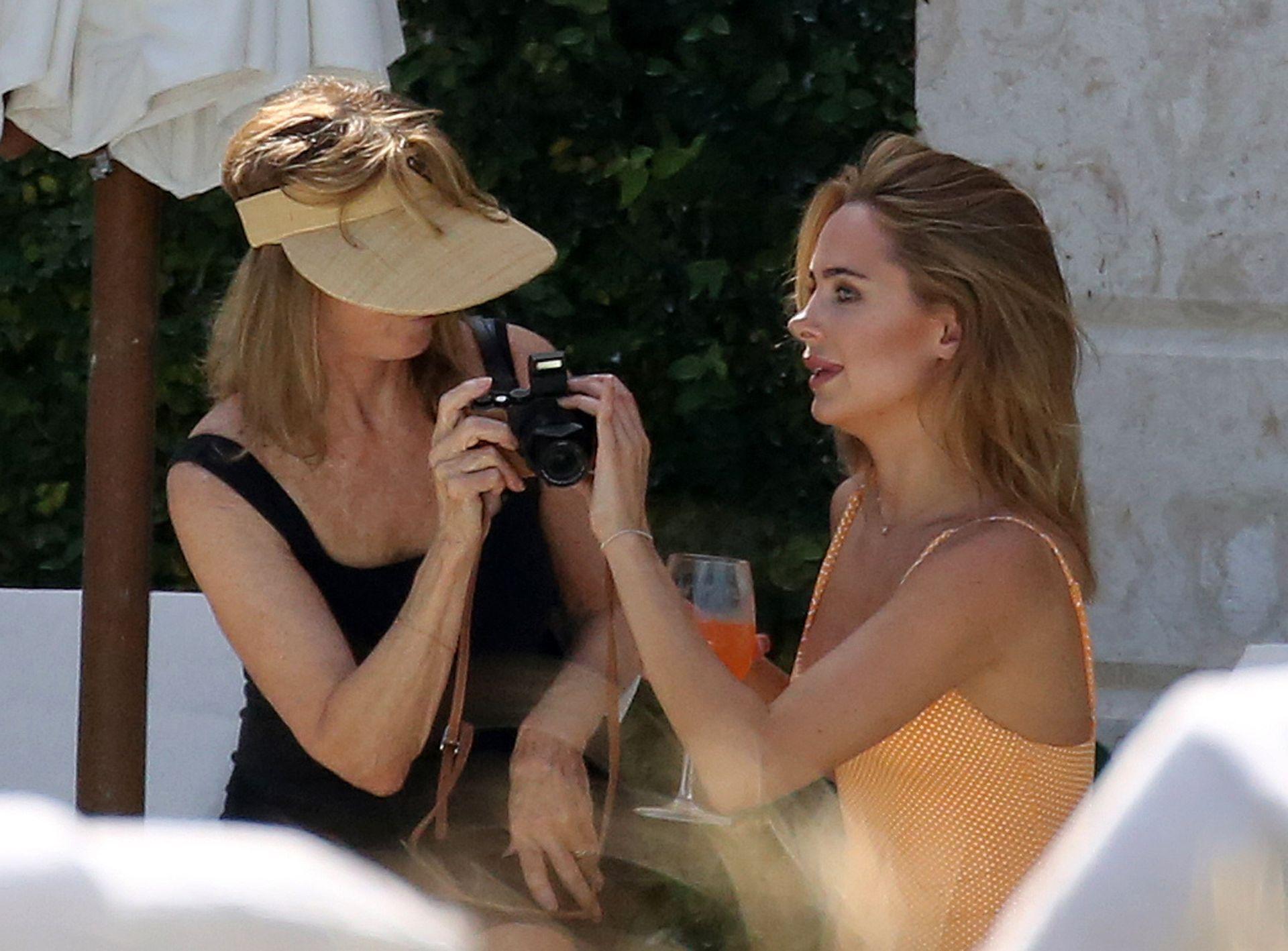 Kimberley Garner Seen Wearing An Orange Swimsuit In Miami 0013