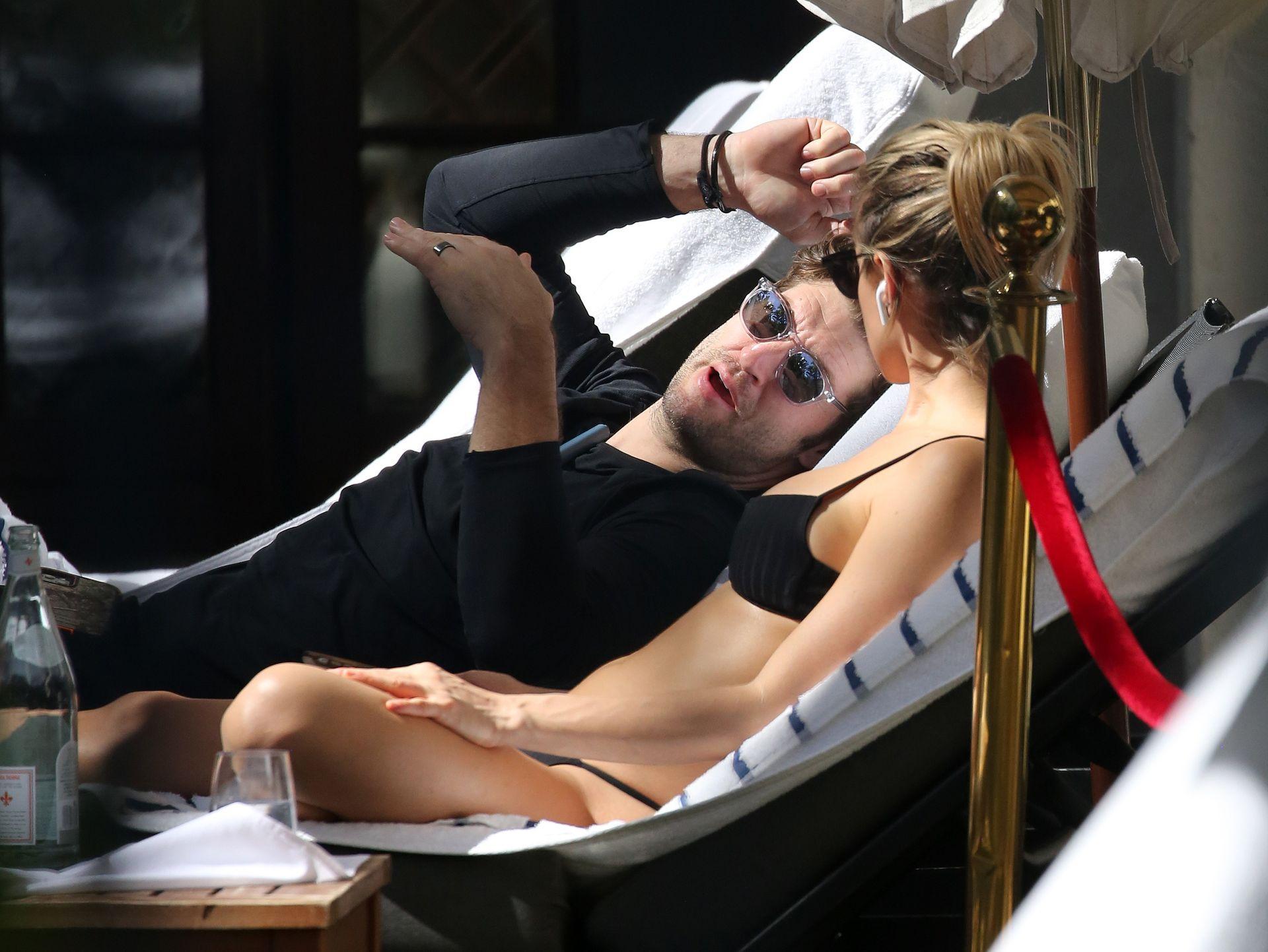 Kristin Cavallari Wears A Black Bikini In Miami 0009