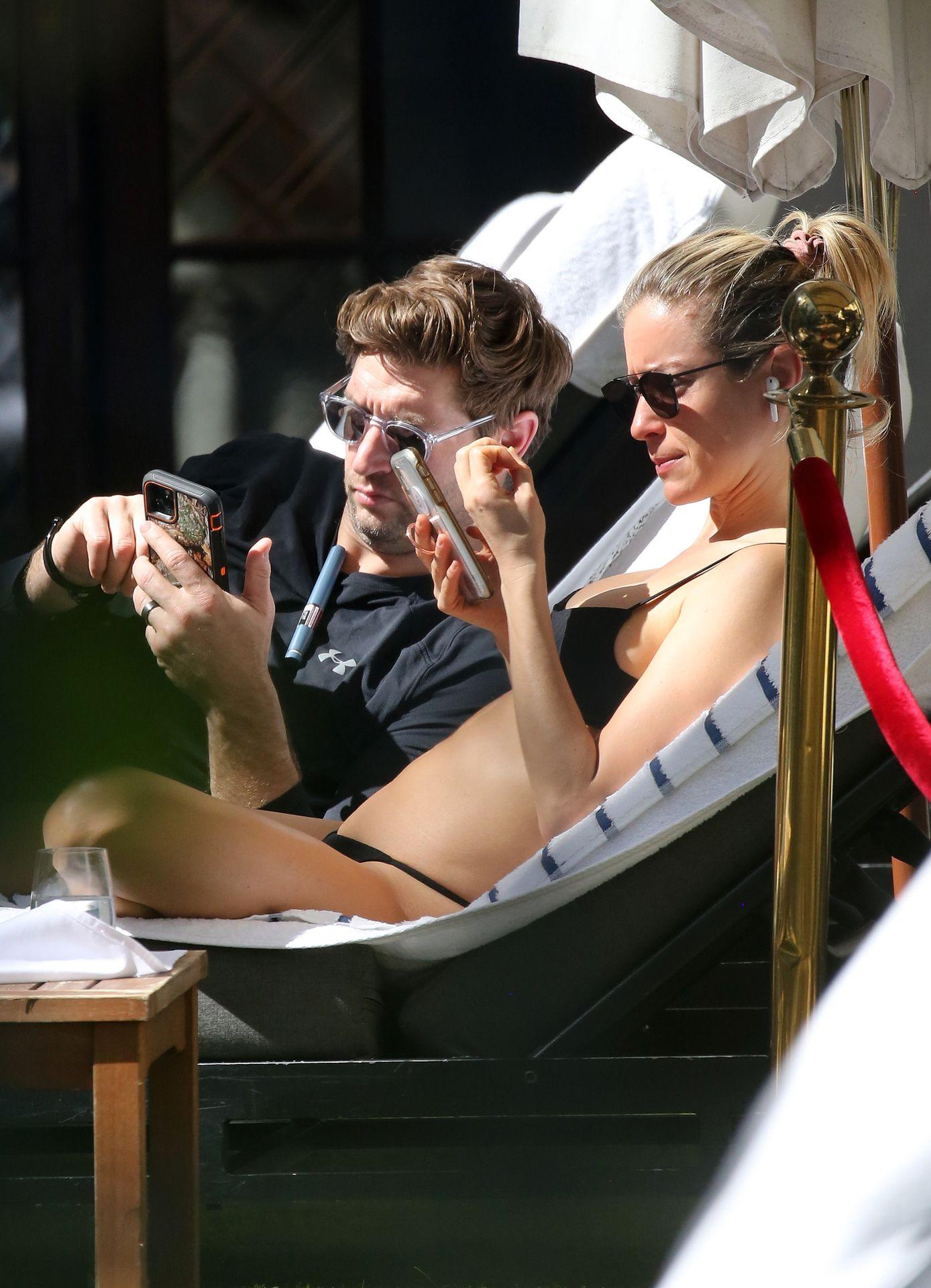 Kristin Cavallari Wears A Black Bikini In Miami 0013