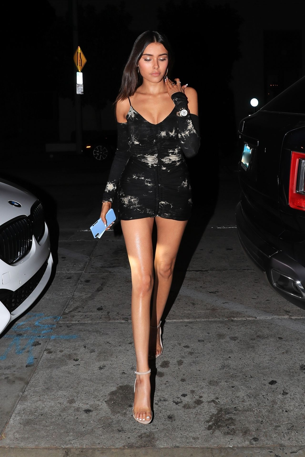 Madison Beer Stuns In Black At Catch La 0002