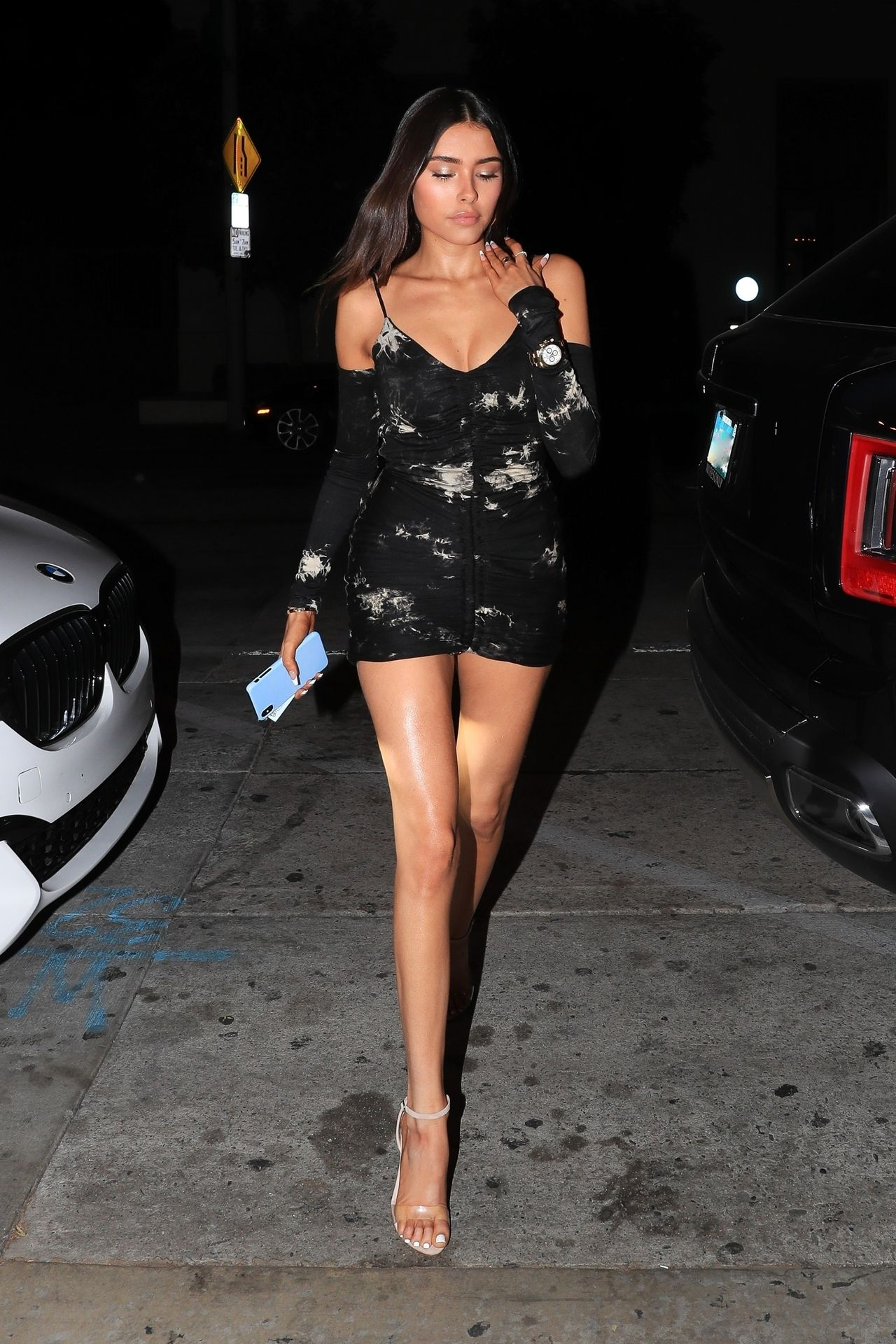 Madison Beer Stuns In Black At Catch La 0003
