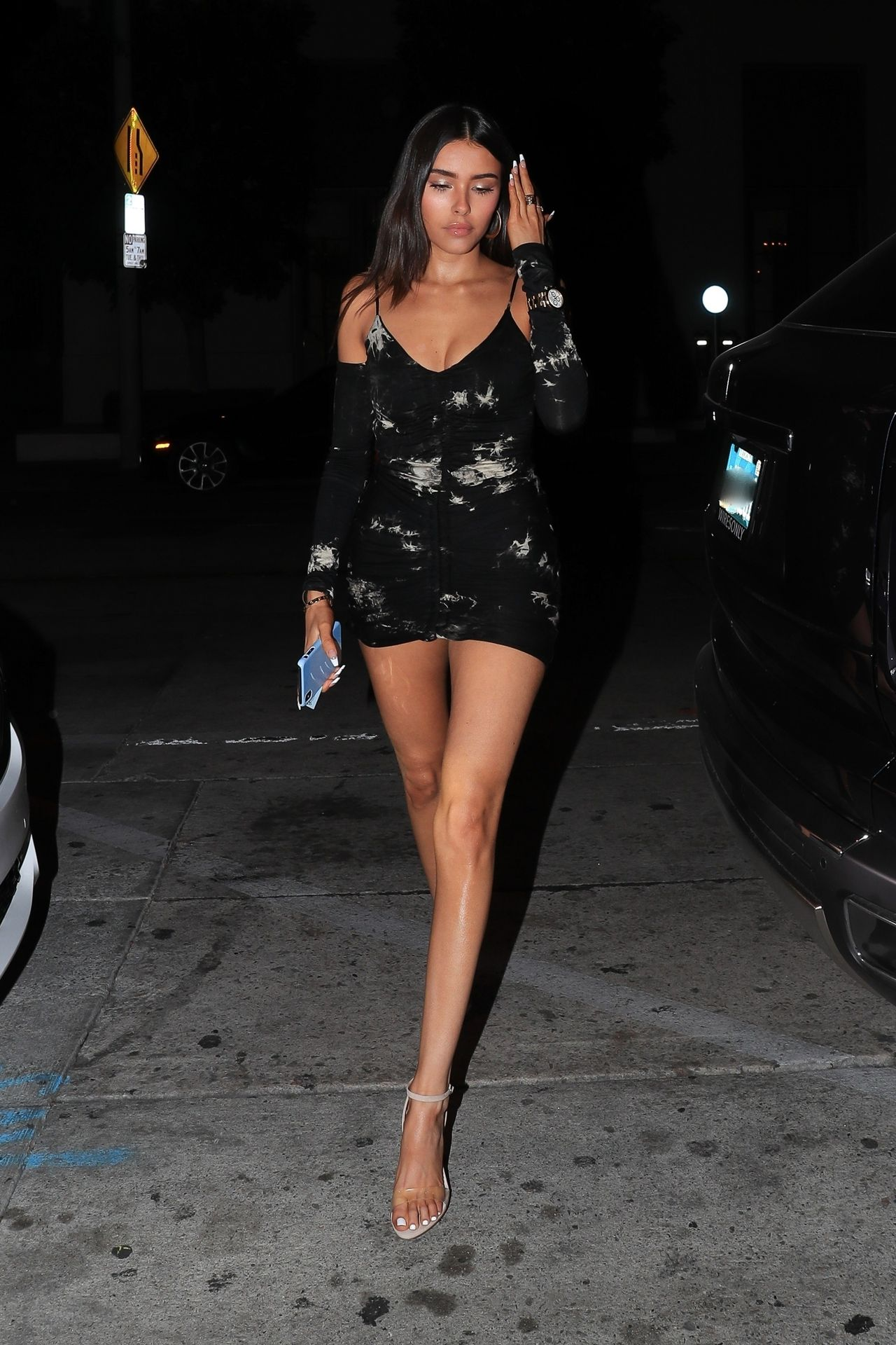 Madison Beer Stuns In Black At Catch La 0005