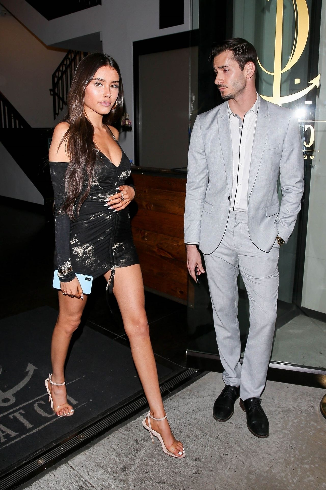 Madison Beer Stuns In Black At Catch La 0016