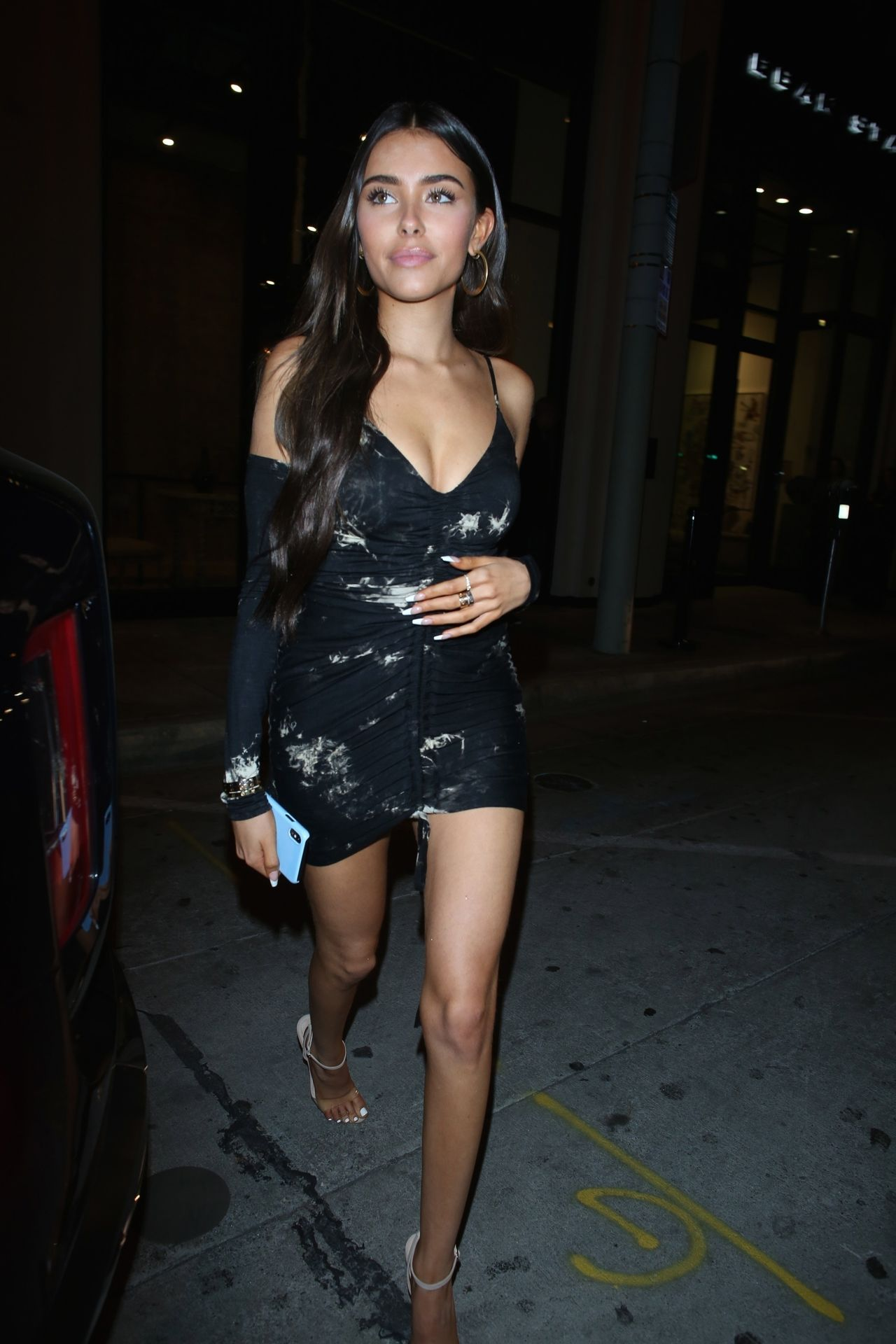 Madison Beer Stuns In Black At Catch La 0041