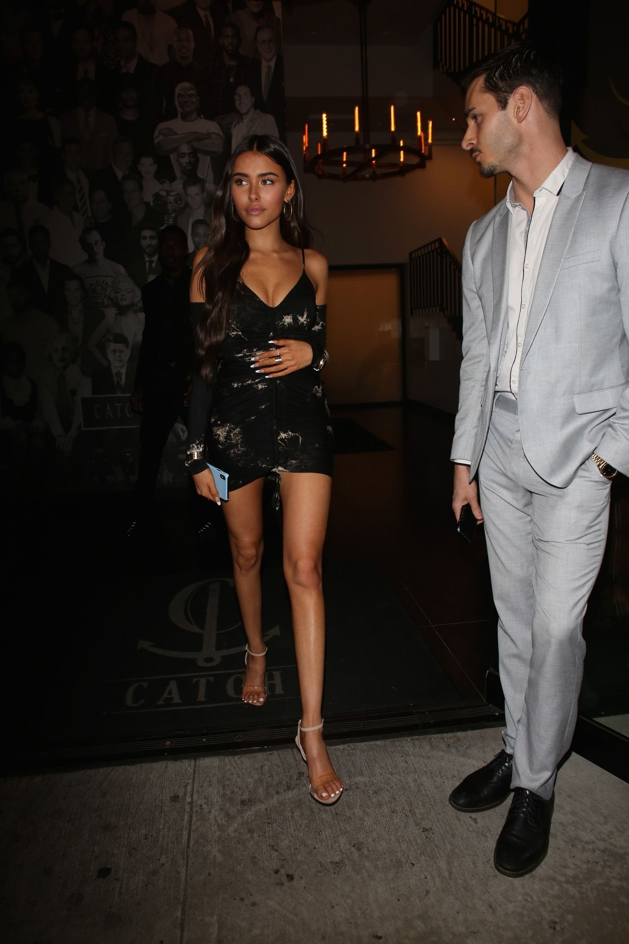 Madison Beer Stuns In Black At Catch La 0043
