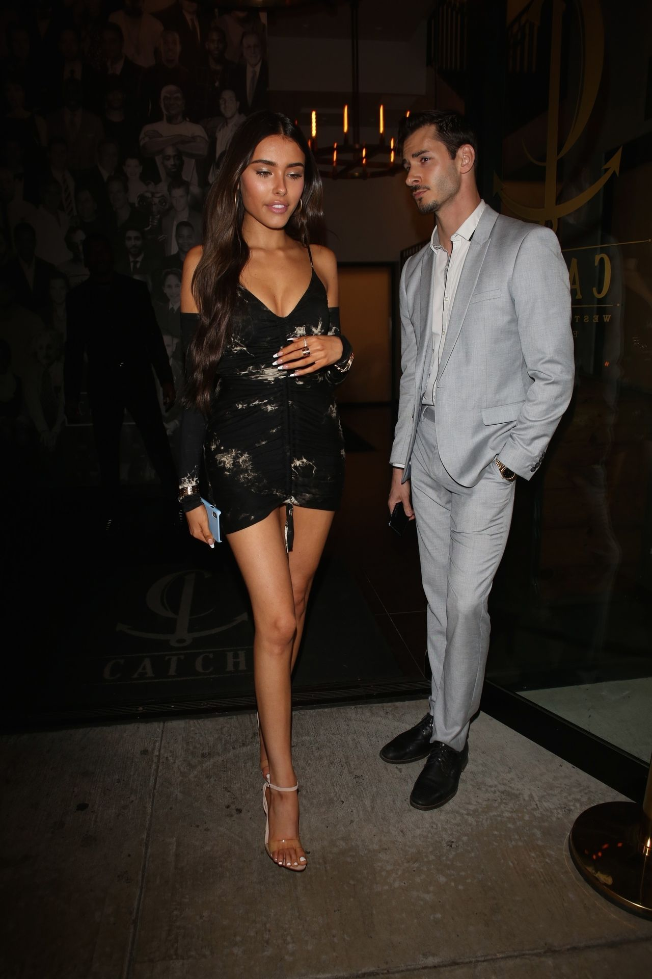 Madison Beer Stuns In Black At Catch La 0045