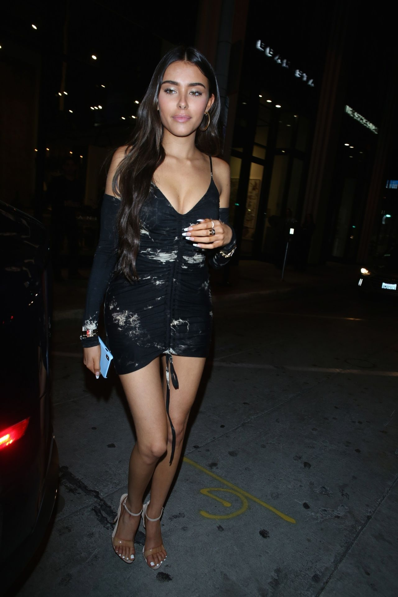 Madison Beer Stuns In Black At Catch La 0048