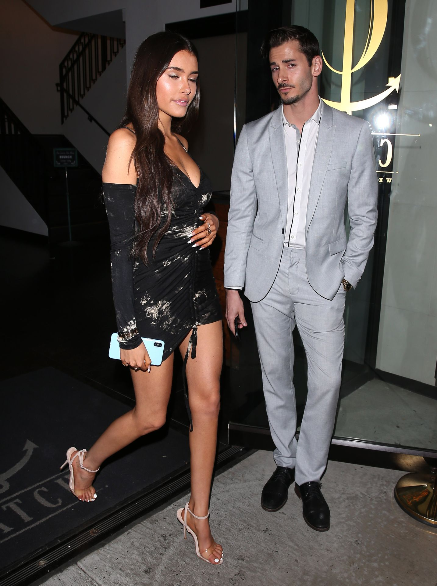 Madison Beer Stuns In Black At Catch La 0073