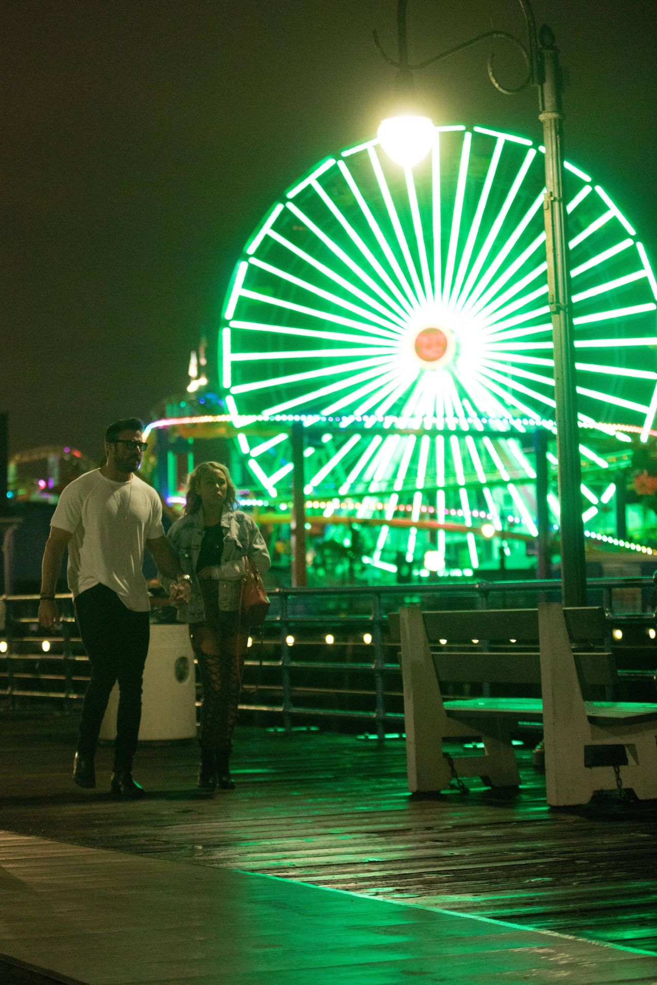 Chad Johnson & Annalise Mishler Are Seen On A Low Key Date At The Santa Monica Pier 0004