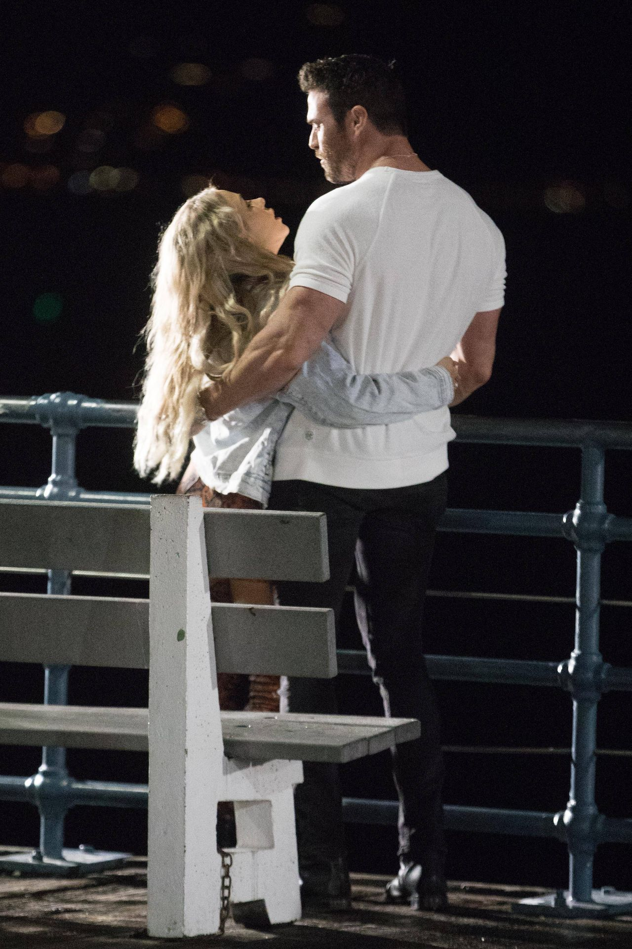 Chad Johnson & Annalise Mishler Are Seen On A Low Key Date At The Santa Monica Pier 0017