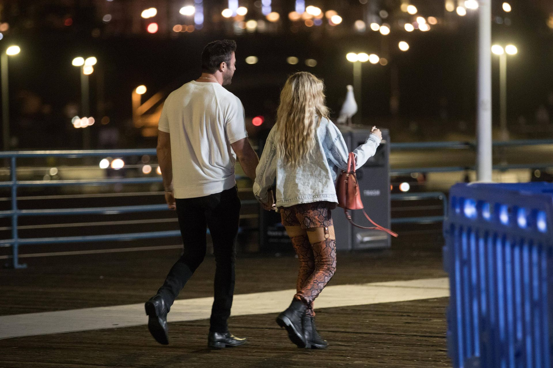 Chad Johnson & Annalise Mishler Are Seen On A Low Key Date At The Santa Monica Pier 0021