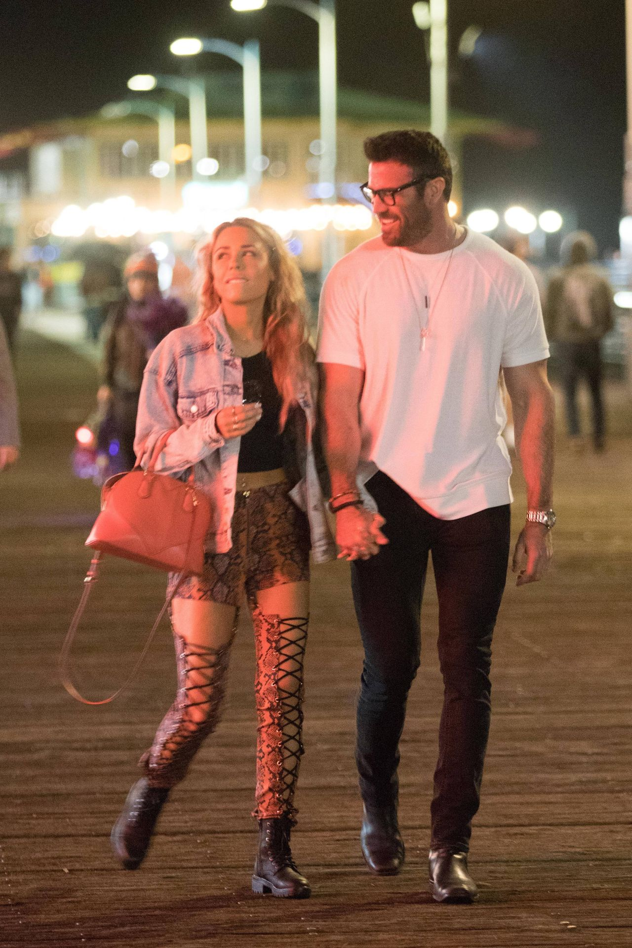 Chad Johnson & Annalise Mishler Are Seen On A Low Key Date At The Santa Monica Pier 0022