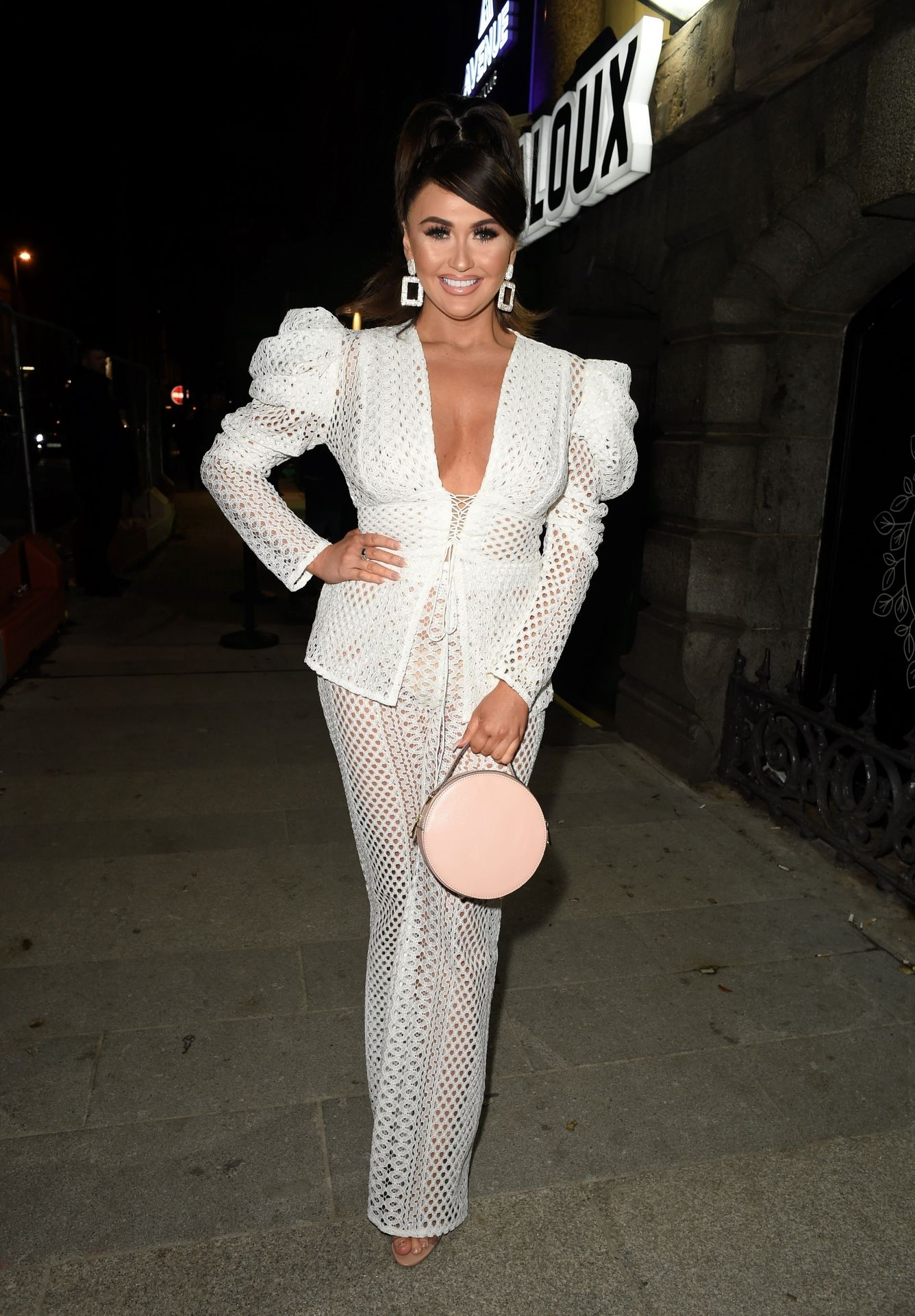 Charlotte Dawson Shows Her Boobs At Avenue Nightclub Launch Party 0021
