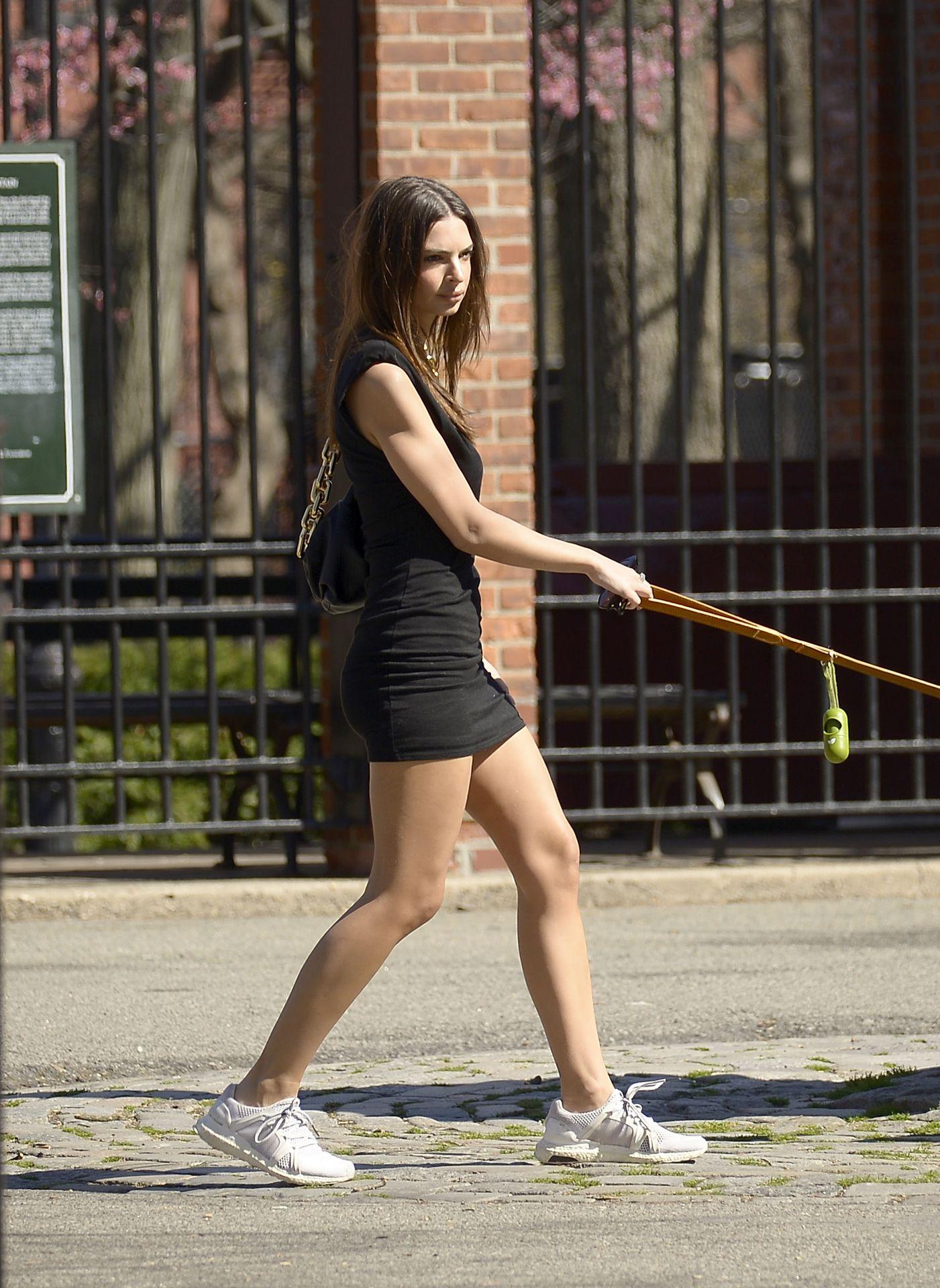 Emily Ratajkowski Takes Her Dog To A Dog Park In New York City 0007