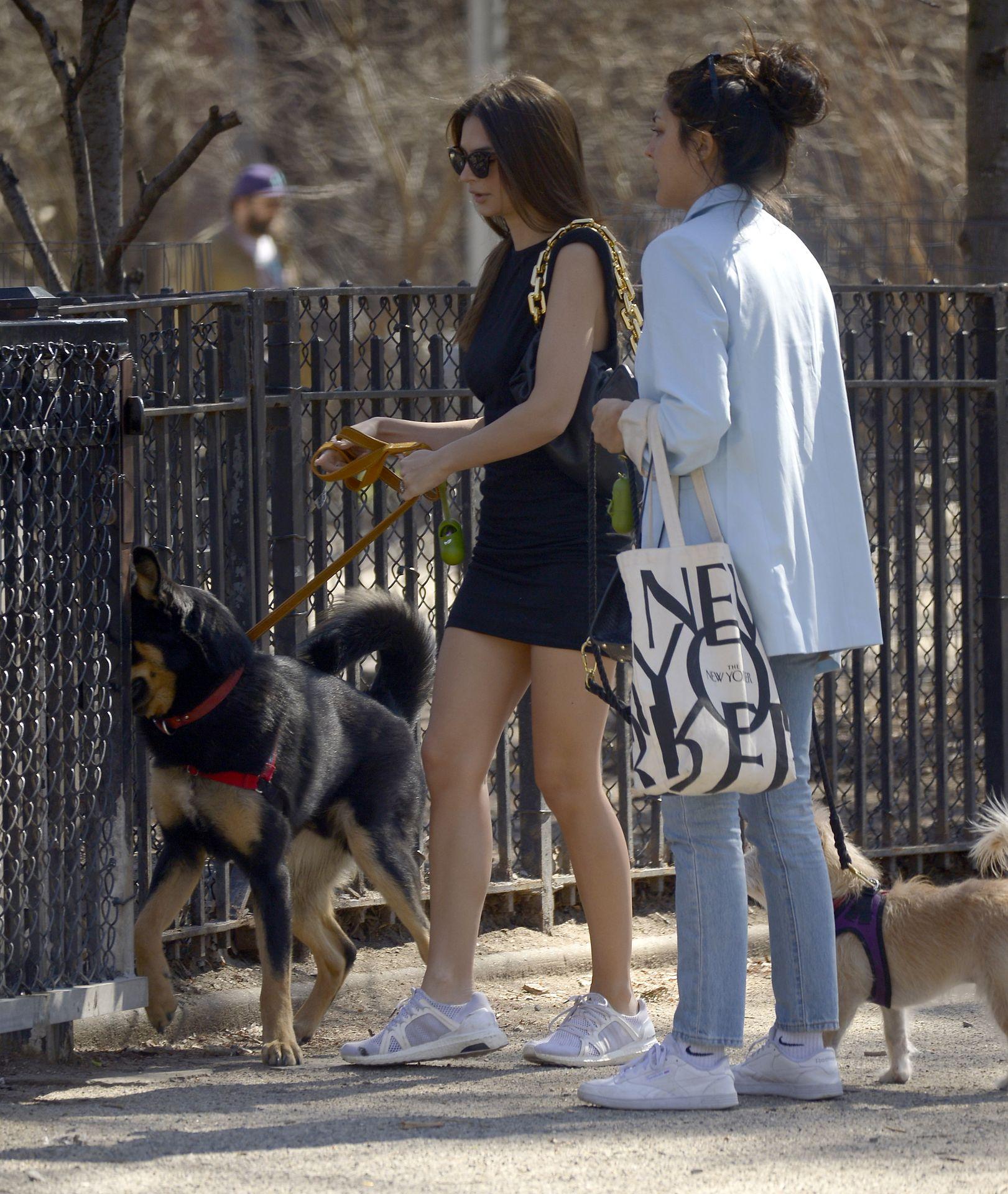 Emily Ratajkowski Takes Her Dog To A Dog Park In New York City 0015