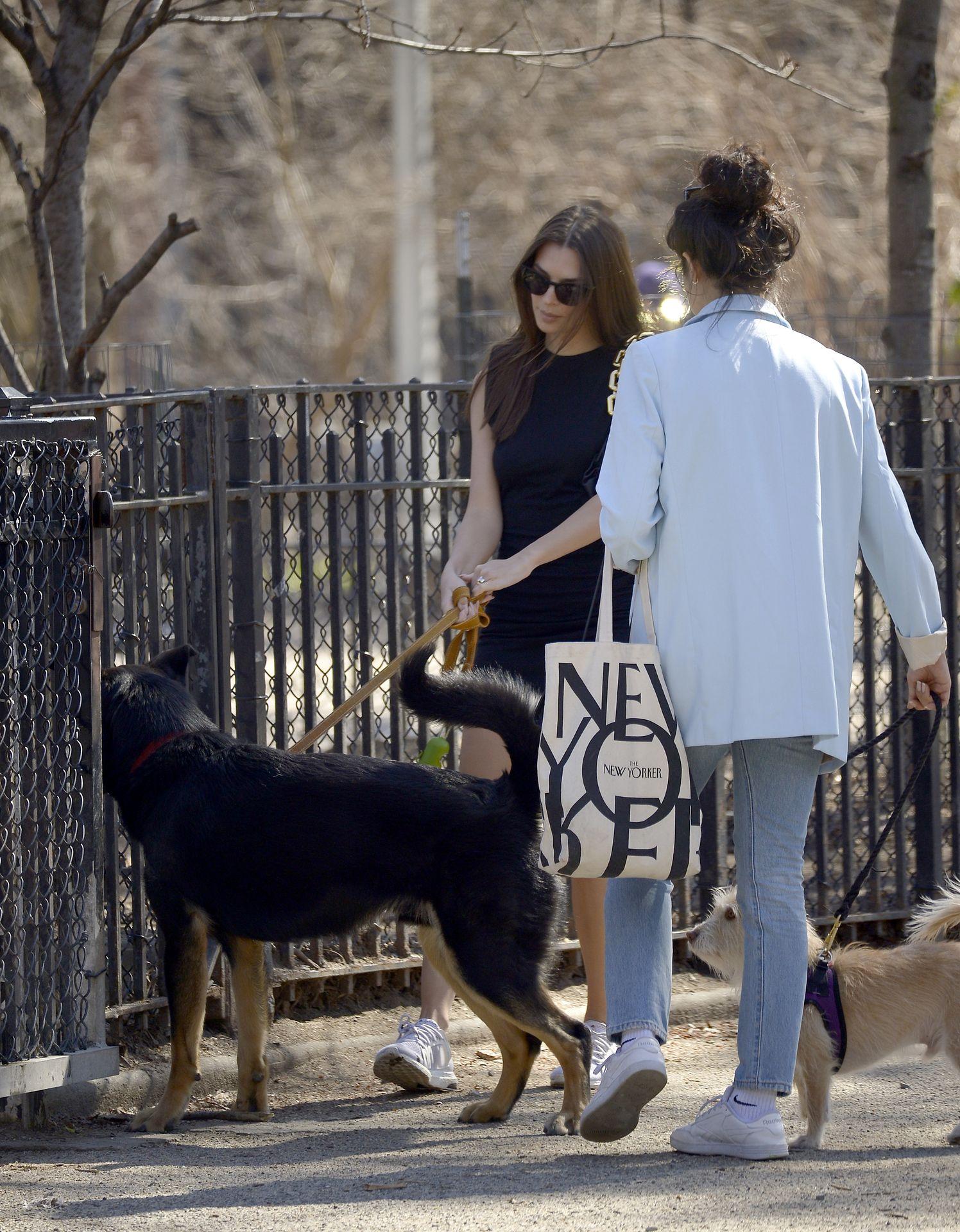 Emily Ratajkowski Takes Her Dog To A Dog Park In New York City 0018