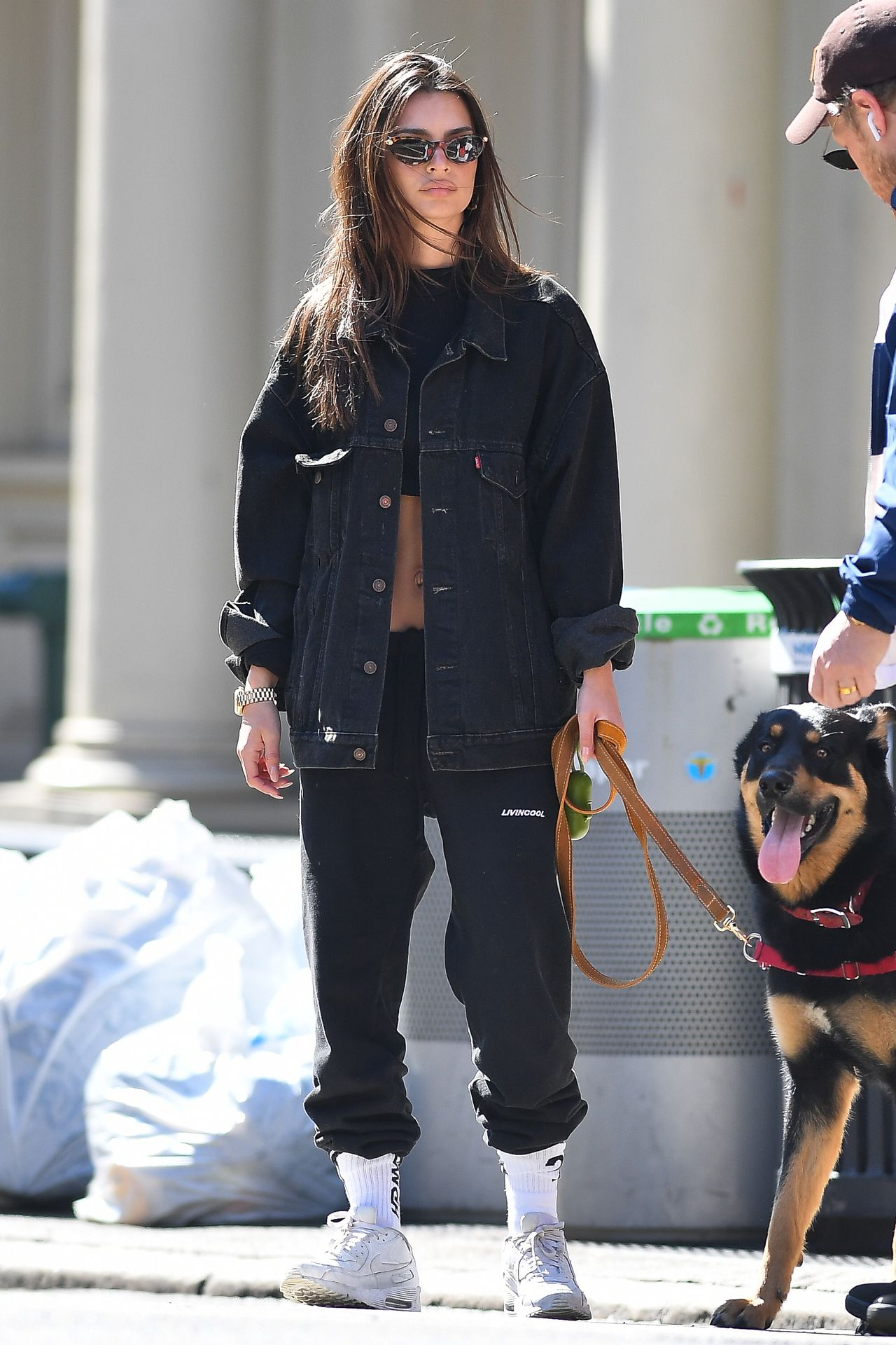 Emily Ratajkowski Walks With Her Dog Colombo In Nyc 0002