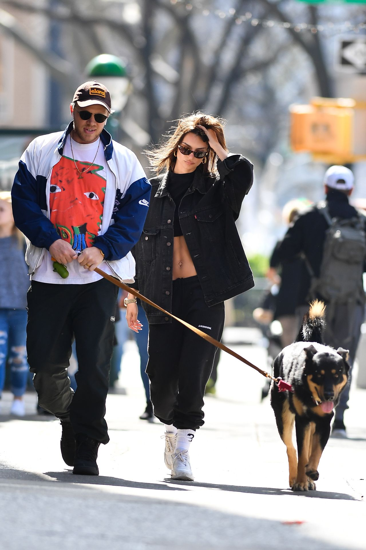 Emily Ratajkowski Walks With Her Dog Colombo In Nyc 0013