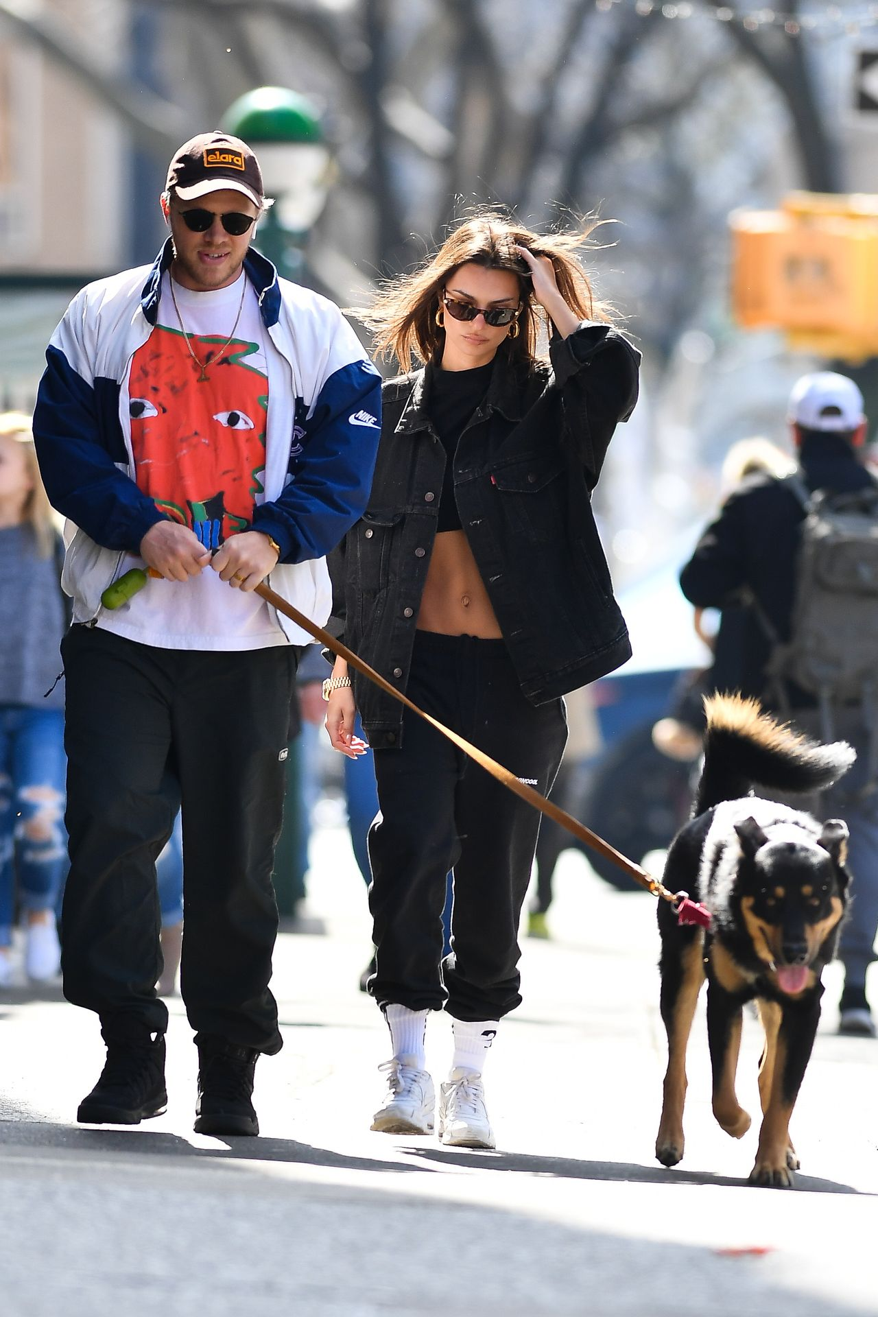 Emily Ratajkowski Walks With Her Dog Colombo In Nyc 0014