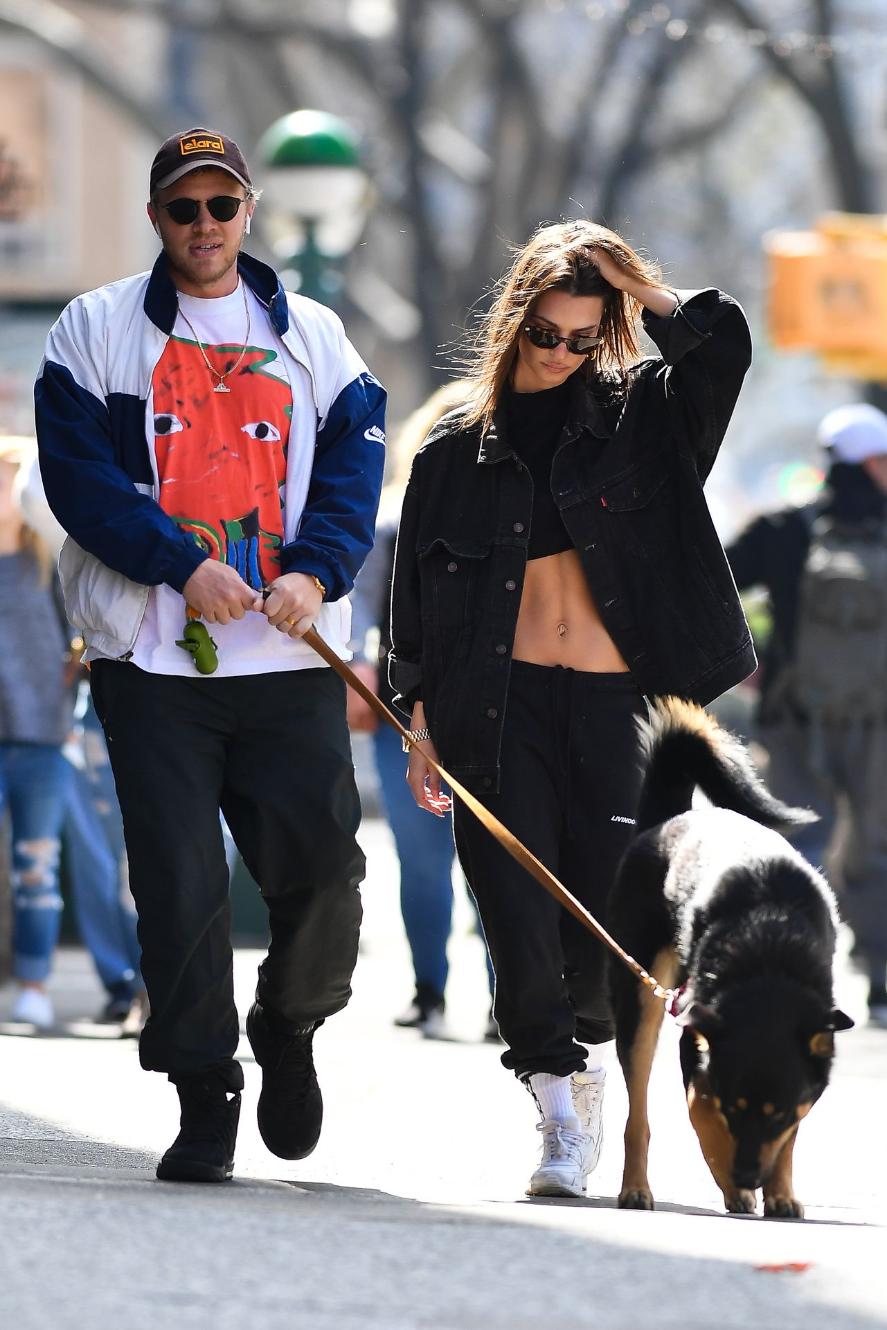 Emily Ratajkowski Walks With Her Dog Colombo In Nyc 0016