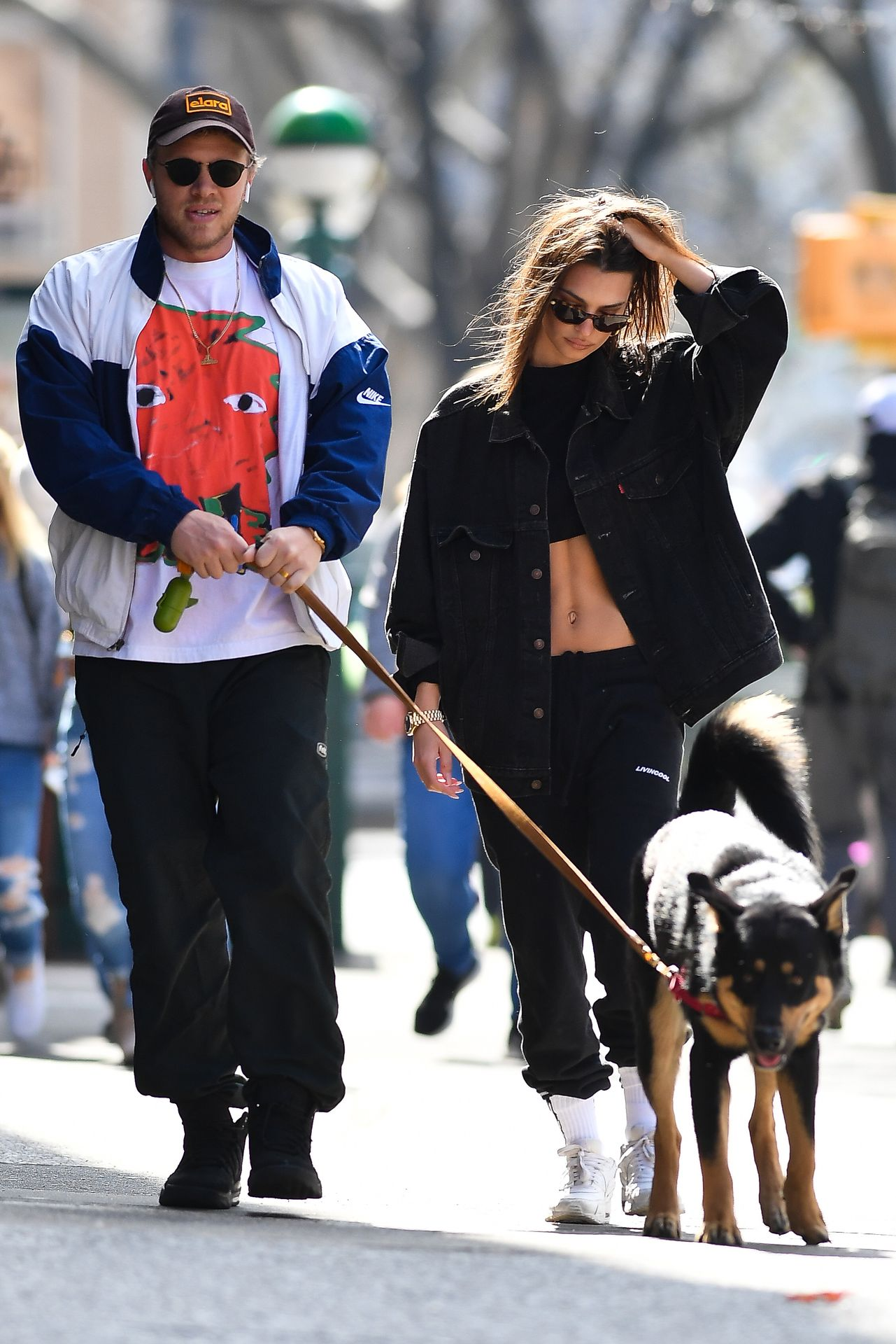 Emily Ratajkowski Walks With Her Dog Colombo In Nyc 0017