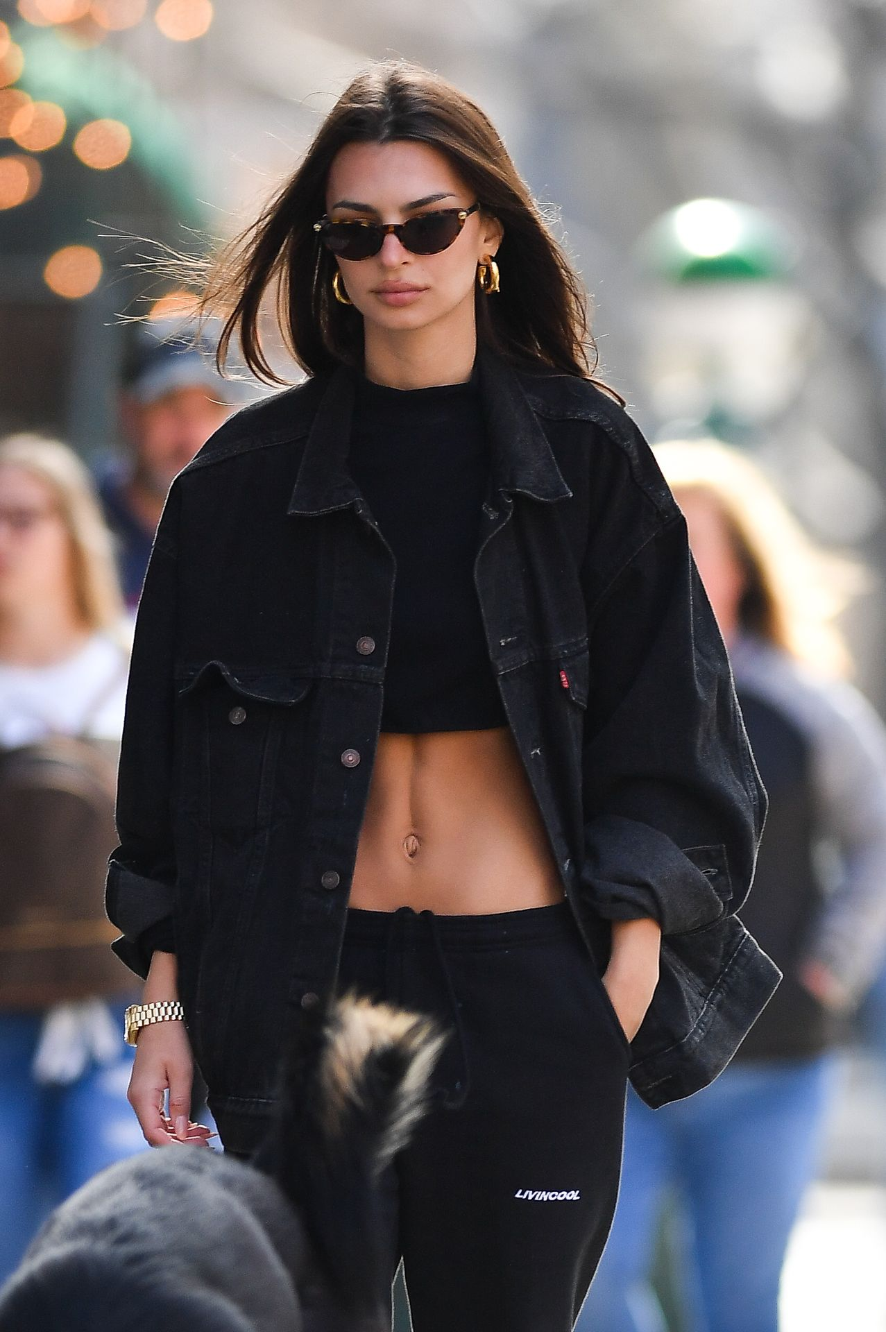 Emily Ratajkowski Walks With Her Dog Colombo In Nyc 0018