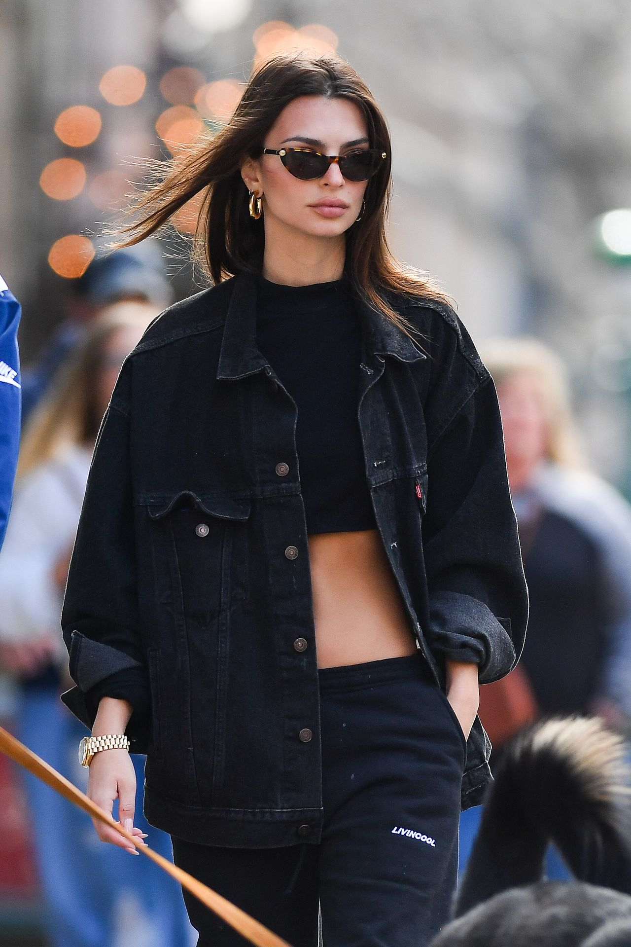 Emily Ratajkowski Walks With Her Dog Colombo In Nyc 0023