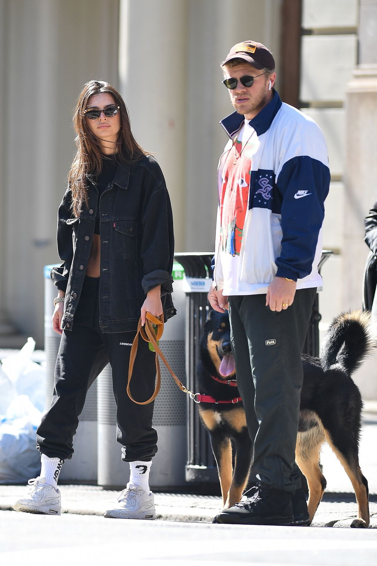 Emily Ratajkowski Walks With Her Dog Colombo In Nyc 0029