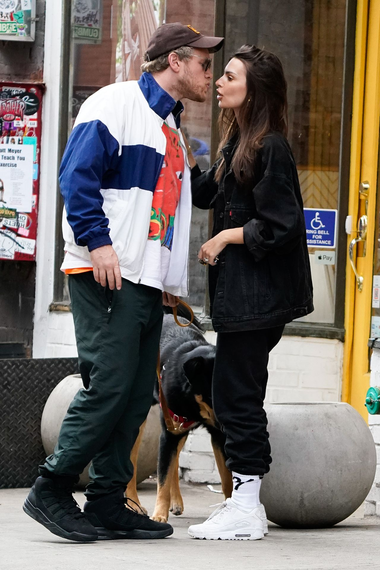Emily Ratajkowski Walks With Her Dog Colombo In Nyc 0034