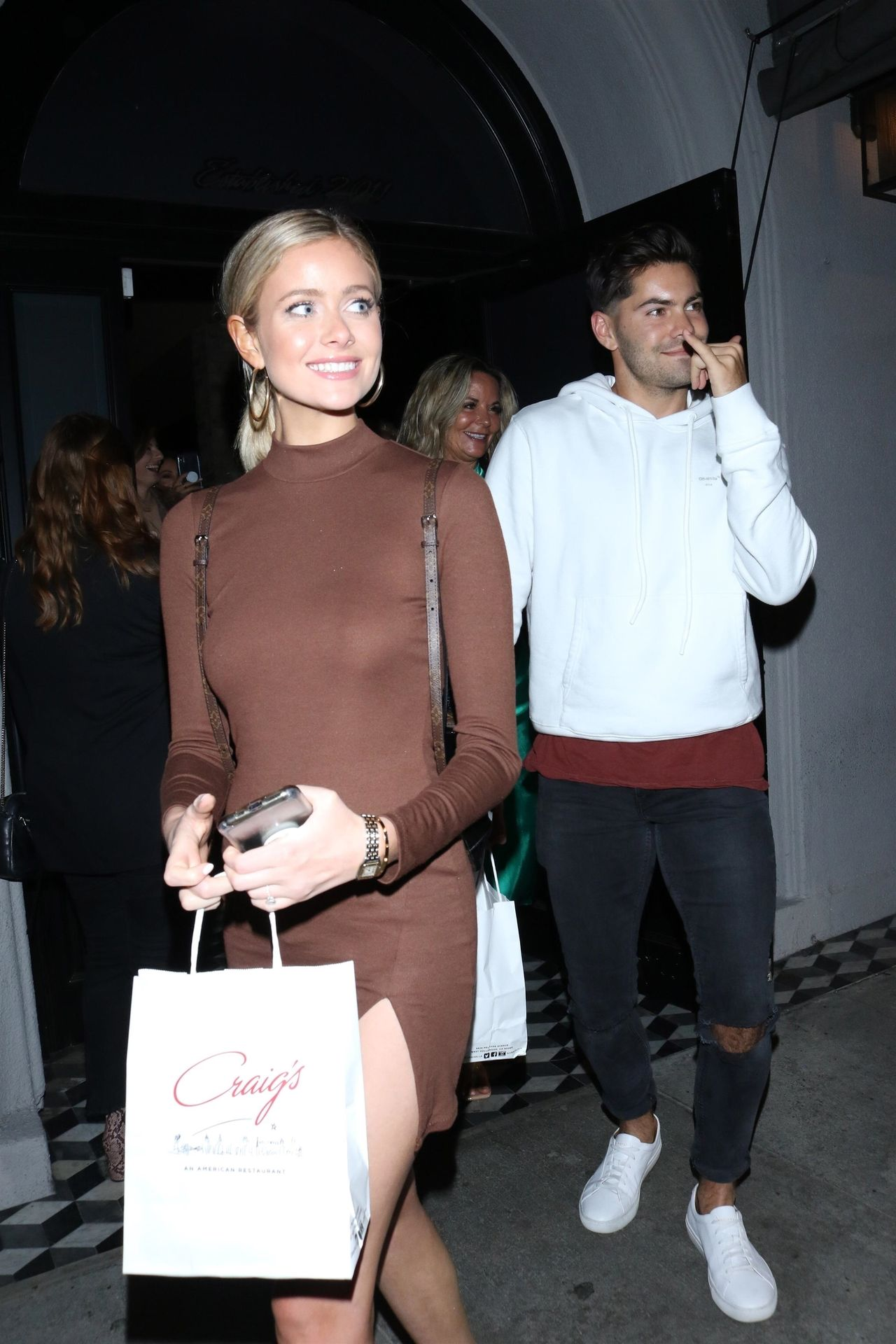 Hannah Godwin & Dylan Barbour Are Seen Outside Craig's Restaurant In West Hollywood 0003