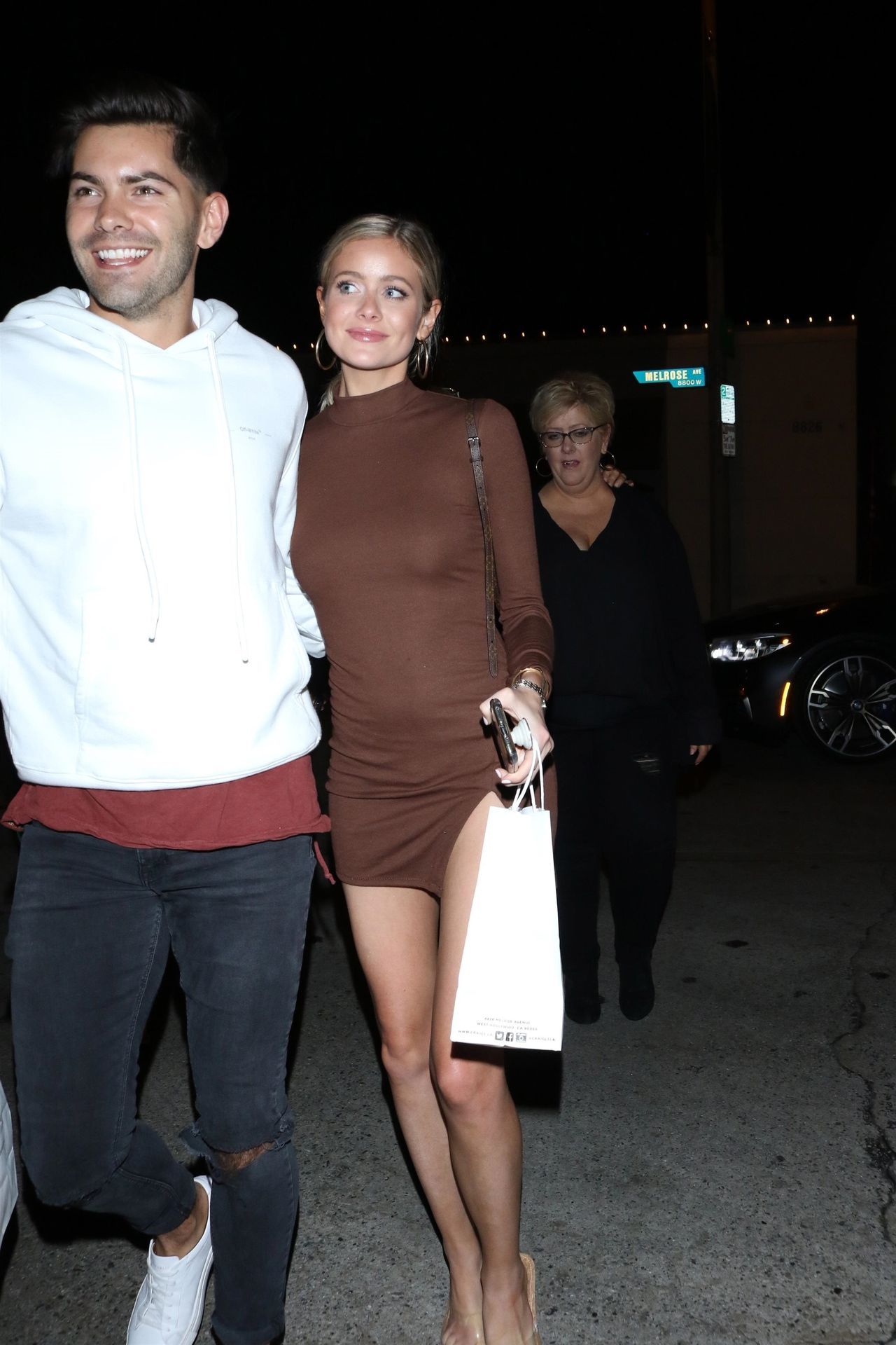 Hannah Godwin & Dylan Barbour Are Seen Outside Craig's Restaurant In West Hollywood 0004