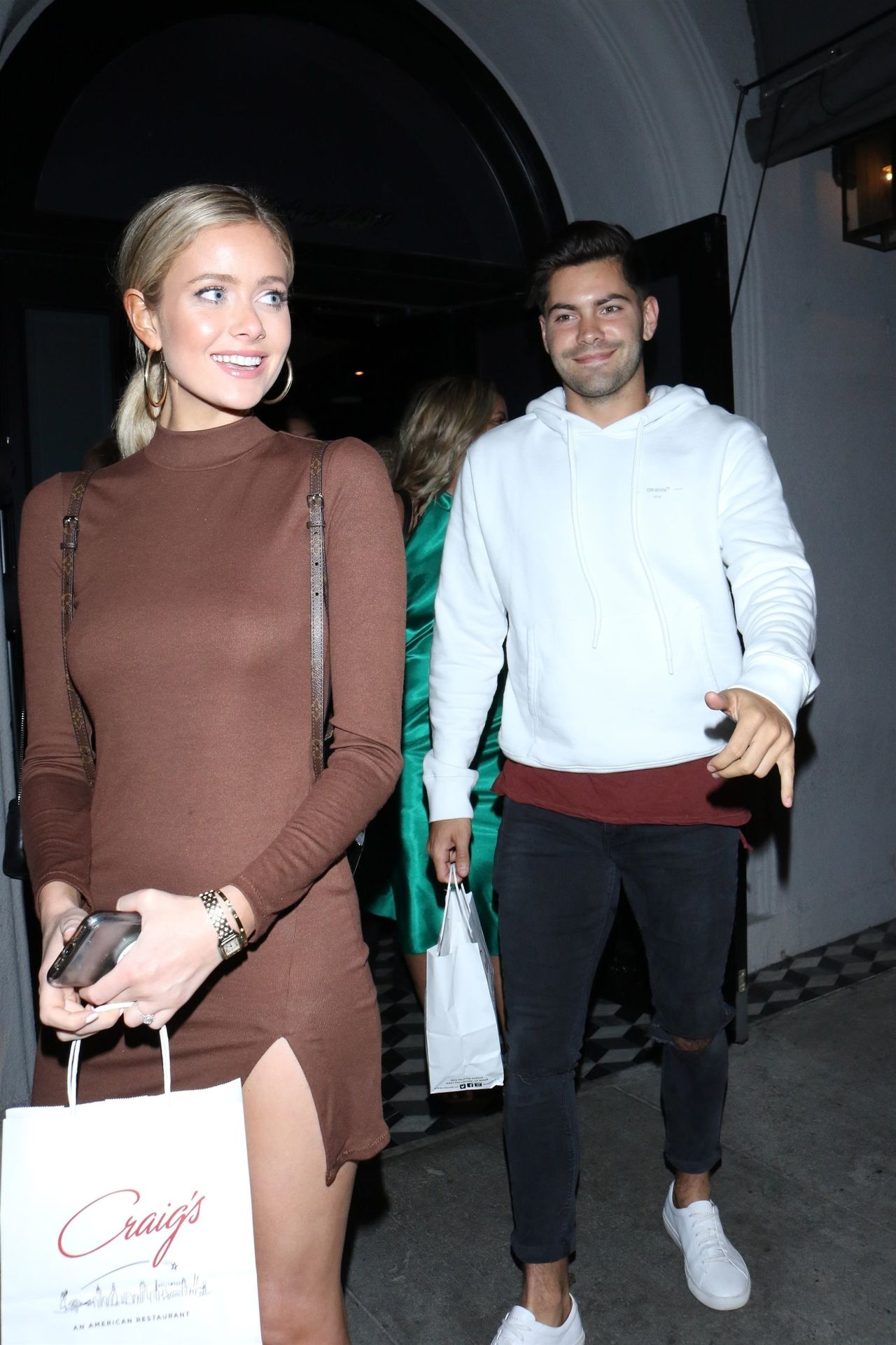 Hannah Godwin & Dylan Barbour Are Seen Outside Craig's Restaurant In West Hollywood 0012