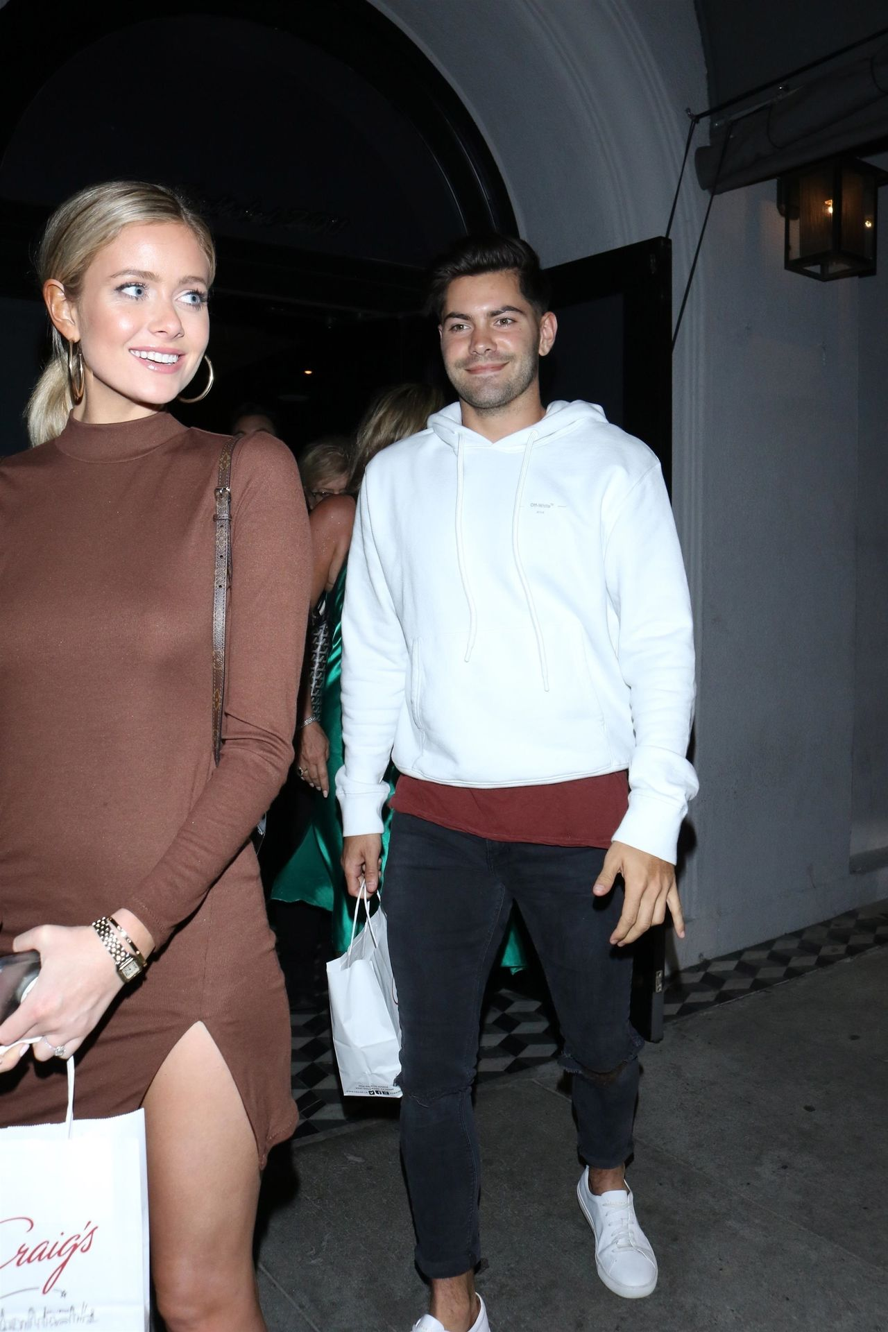 Hannah Godwin & Dylan Barbour Are Seen Outside Craig's Restaurant In West Hollywood 0013