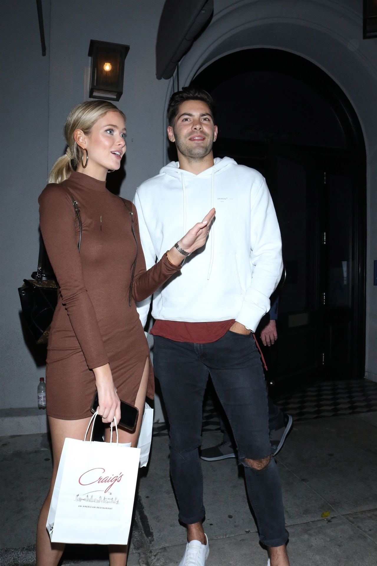 Hannah Godwin & Dylan Barbour Are Seen Outside Craig's Restaurant In West Hollywood 0016