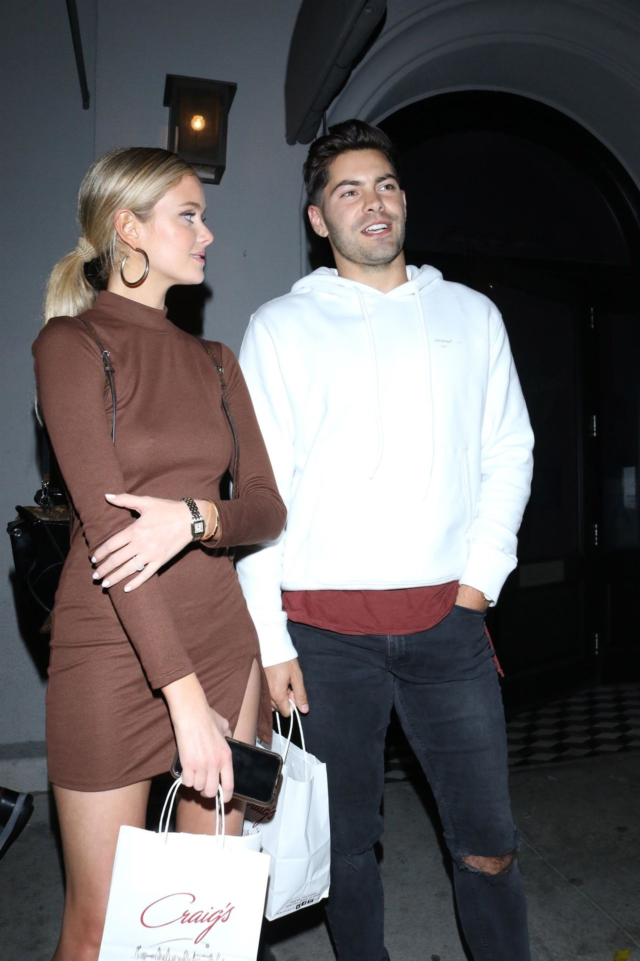 Hannah Godwin & Dylan Barbour Are Seen Outside Craig's Restaurant In West Hollywood 0018