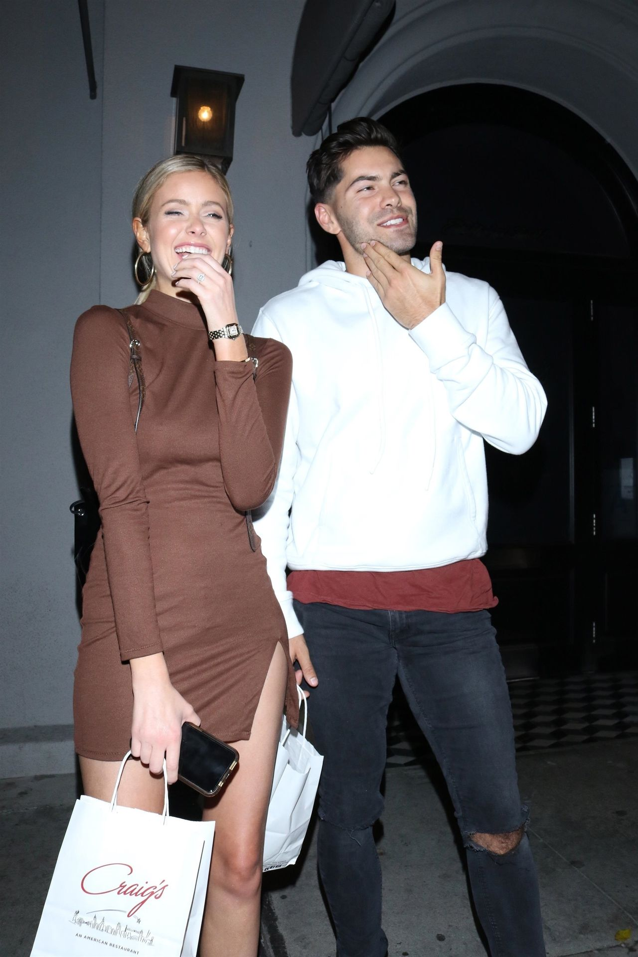 Hannah Godwin & Dylan Barbour Are Seen Outside Craig's Restaurant In West Hollywood 0024
