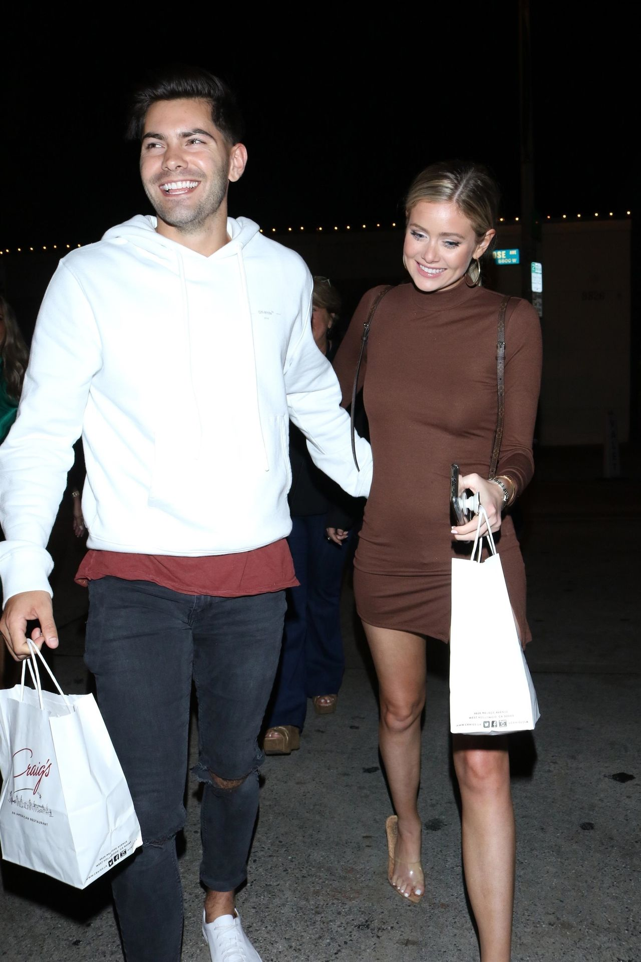 Hannah Godwin & Dylan Barbour Are Seen Outside Craig's Restaurant In West Hollywood 0034