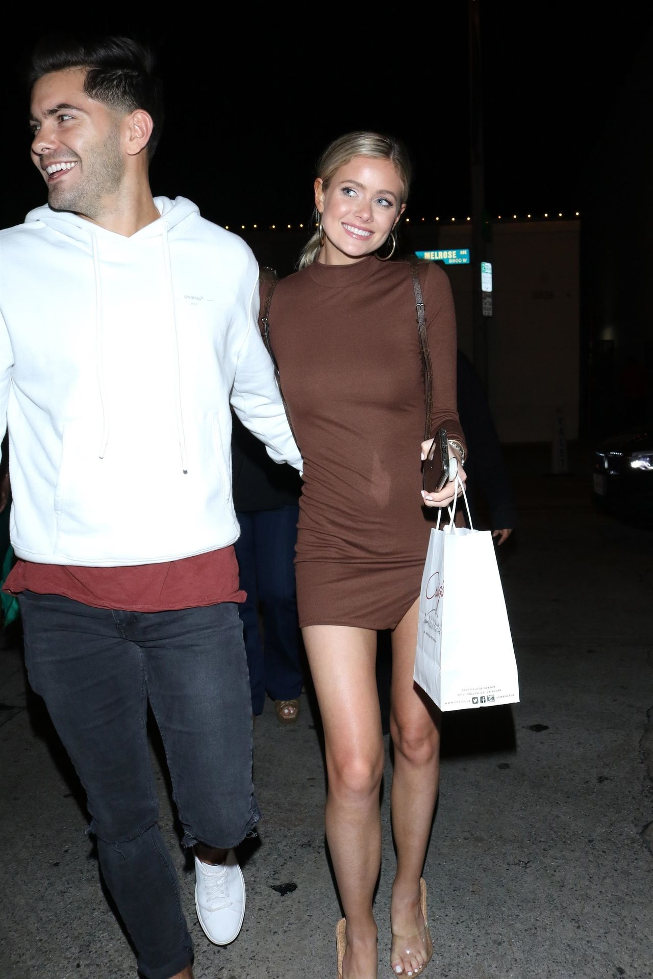 Hannah Godwin & Dylan Barbour Are Seen Outside Craig's Restaurant In West Hollywood 0035
