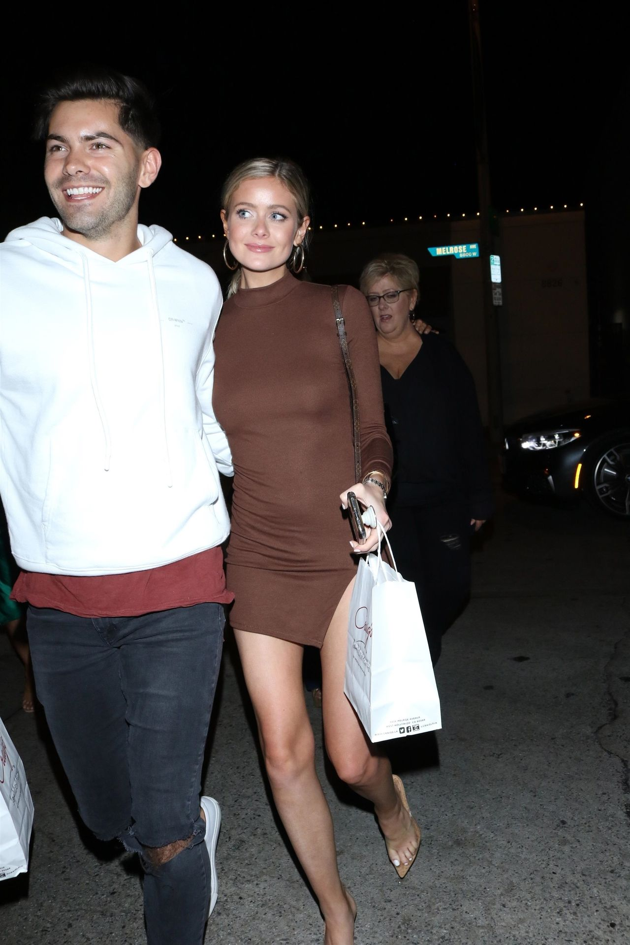 Hannah Godwin & Dylan Barbour Are Seen Outside Craig's Restaurant In West Hollywood 0036