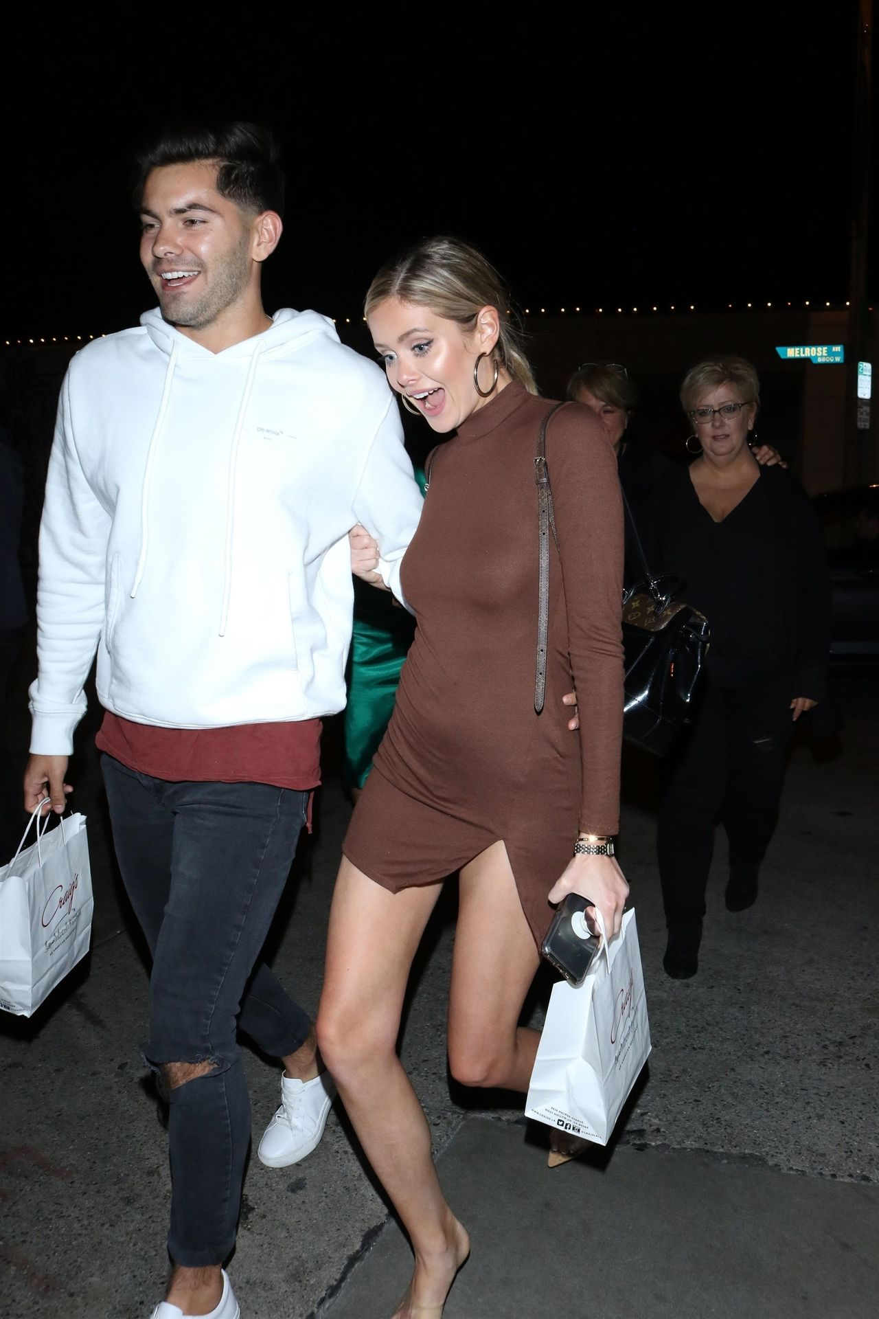 Hannah Godwin & Dylan Barbour Are Seen Outside Craig's Restaurant In West Hollywood 0037