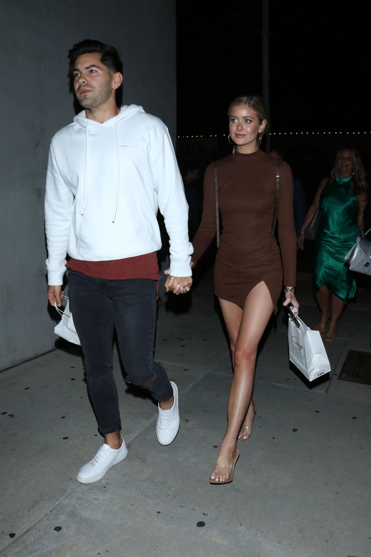 Hannah Godwin & Dylan Barbour Are Seen Outside Craig's Restaurant In West Hollywood 0038